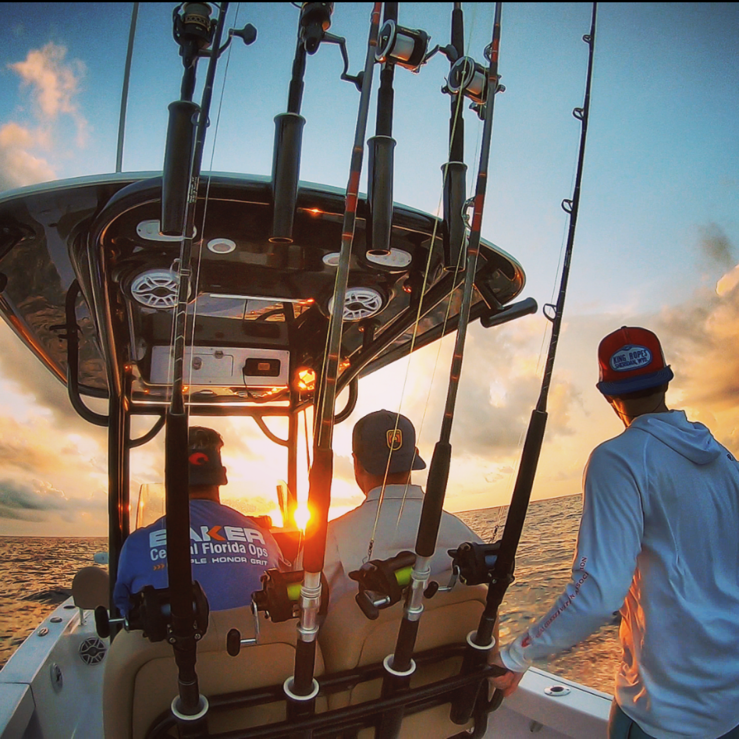 Title: Chasing The Sun - On board their Sportsman Masters 247 Bay Boat - Location: Cape Canaveral, FL. Participating in the Photo Contest #SportsmanMay2020