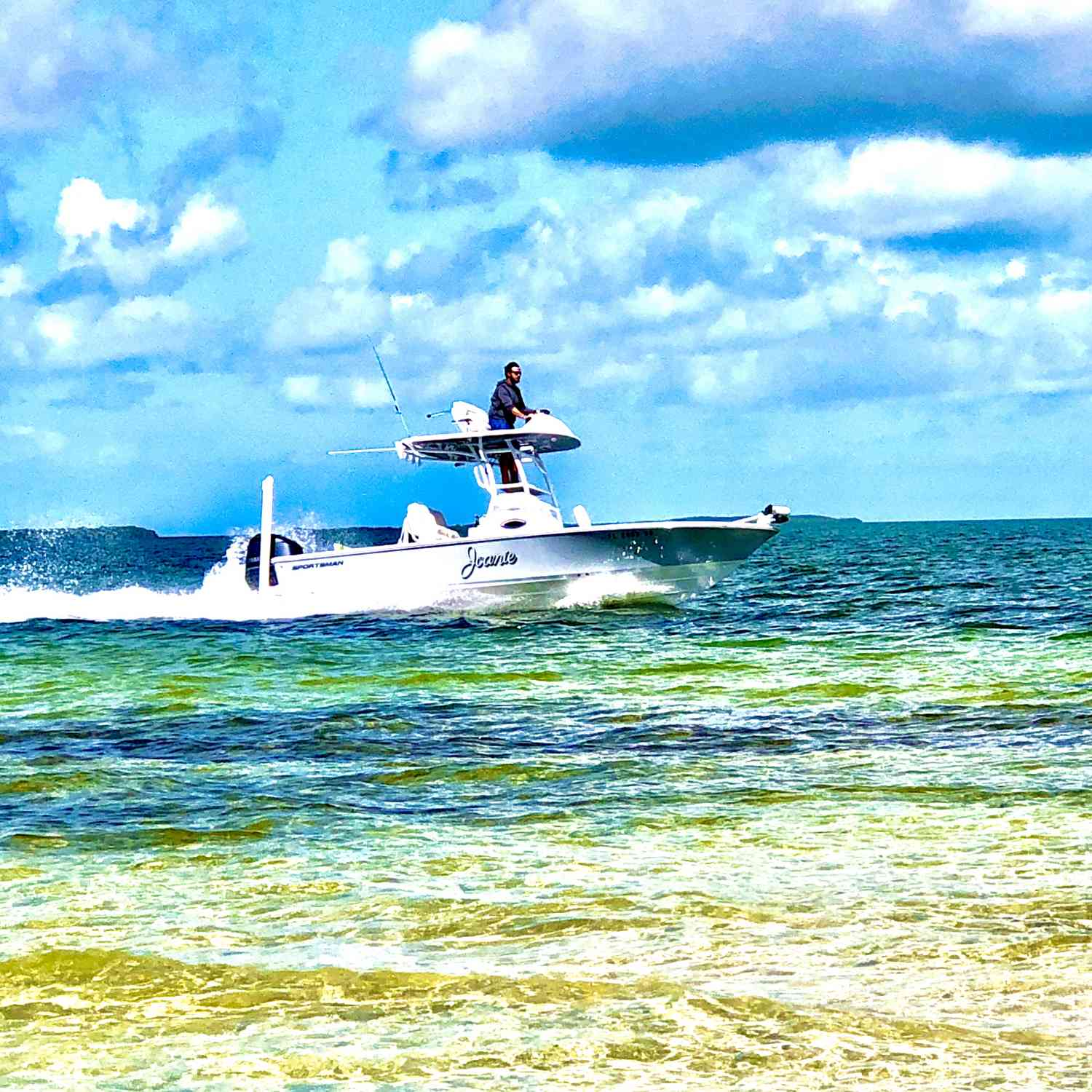 Title: Trying to find my hat! - On board their Sportsman Masters 247 Bay Boat - Location: Key largo, Fl. Participating in the Photo Contest #SportsmanMay2020