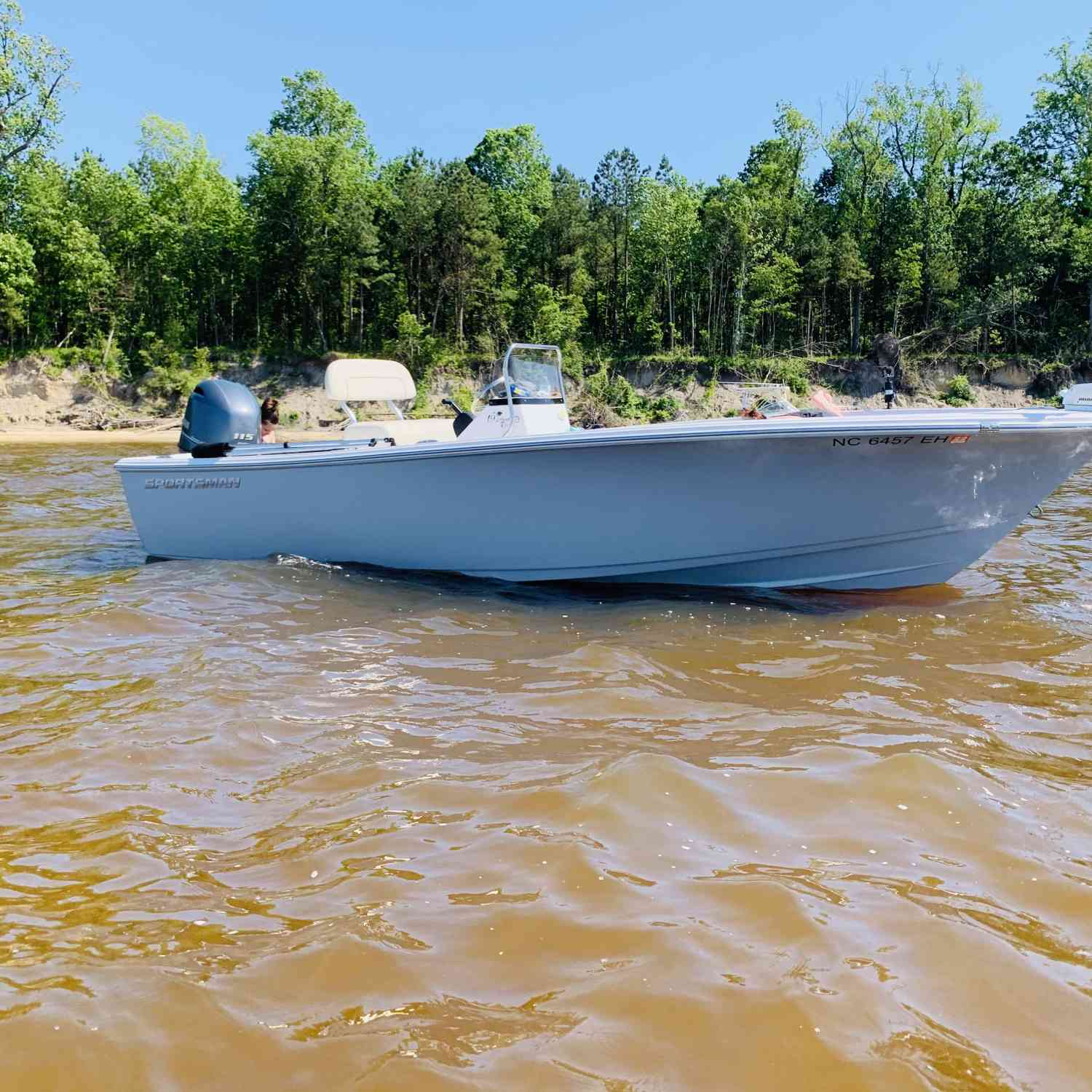 Title: Separation on a Sunday!! - On board their Sportsman Island Reef 19 Center Console - Location: Washington NC. Participating in the Photo Contest #SportsmanMay2020