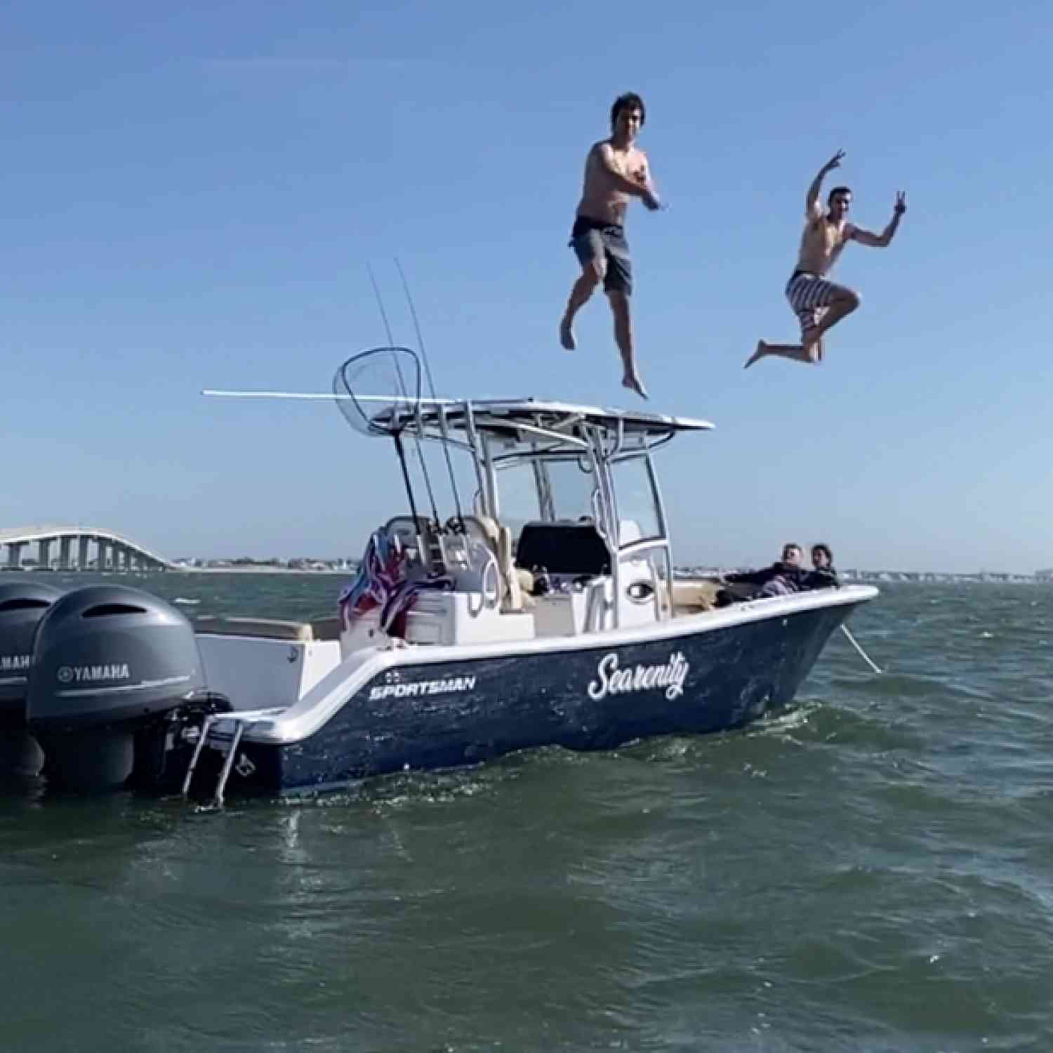 Title: Sportsman Joy - On board their Sportsman Open 282 Center Console - Location: Avalon, Nj. Participating in the Photo Contest #SportsmanMay2020