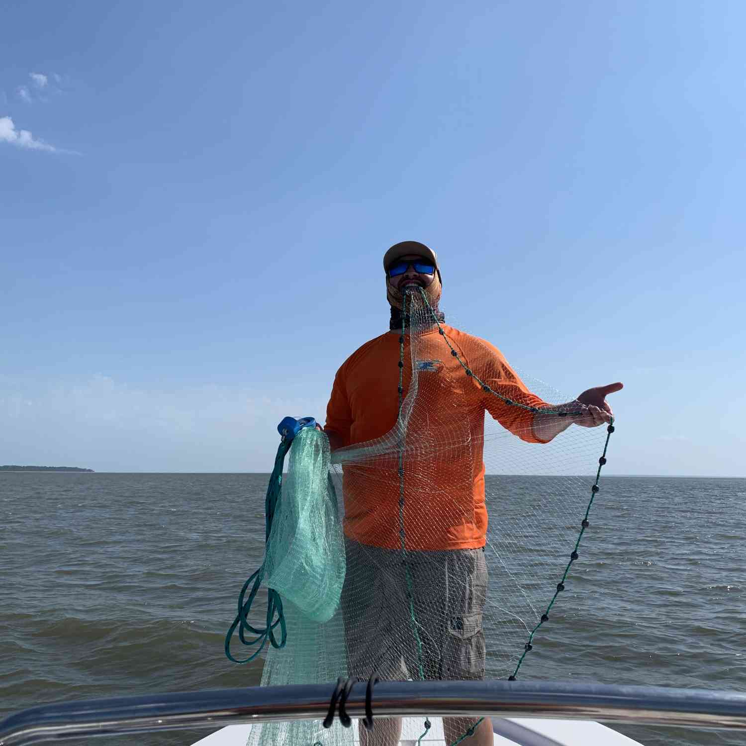 Title: Shrimpin' Ain't Easy - On board their Sportsman Masters 207 Bay Boat - Location: Edisto, SC. Participating in the Photo Contest #SportsmanMay2020