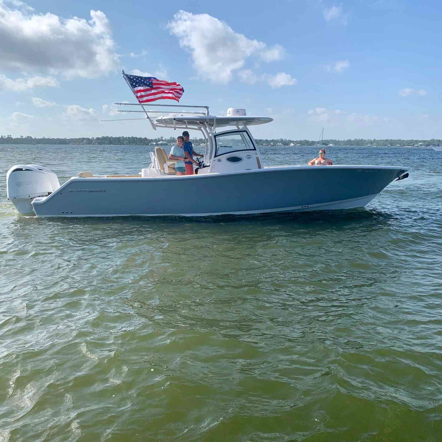 Title: Flying ole glory - On board their Sportsman Open 312 Center Console - Location: Orange Beach Al. Participating in the Photo Contest #SportsmanMay2020