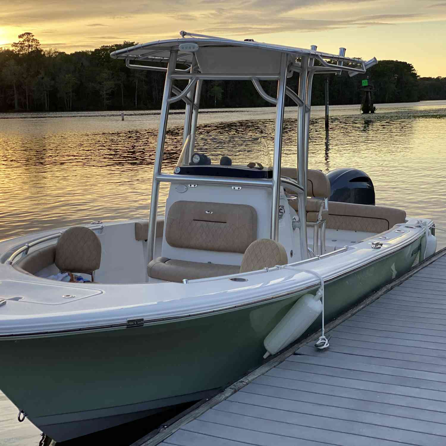 Title: Sunset dinner cruise - On board their Sportsman Heritage 211 Center Console - Location: Murrells inlet, South Carolina. Participating in the Photo Contest #SportsmanMay2020