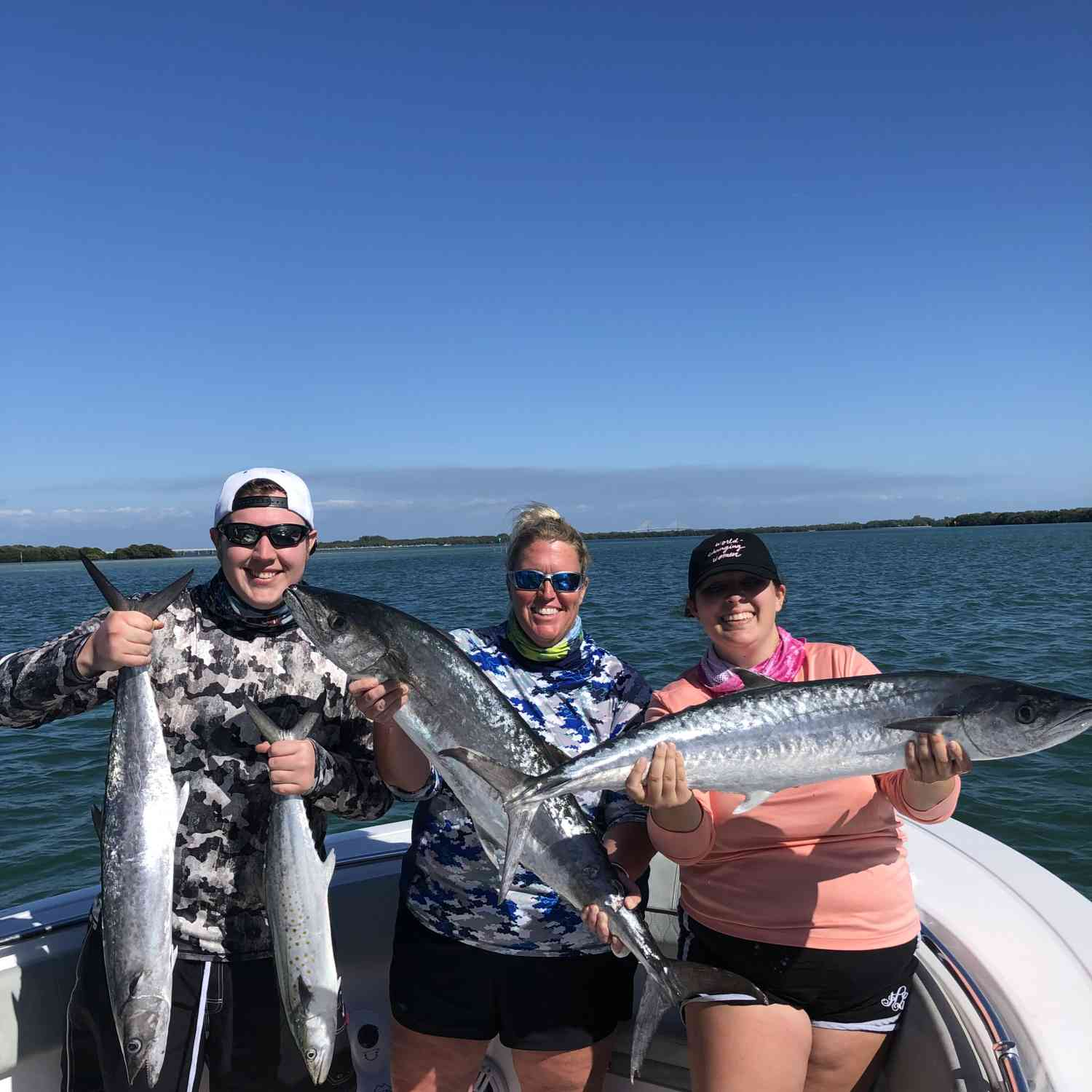 Title: Mackerel Frenzy - On board their Sportsman Open 282TE Center Console - Location: Fort Desoto, Florida. Participating in the Photo Contest #SportsmanMay2020
