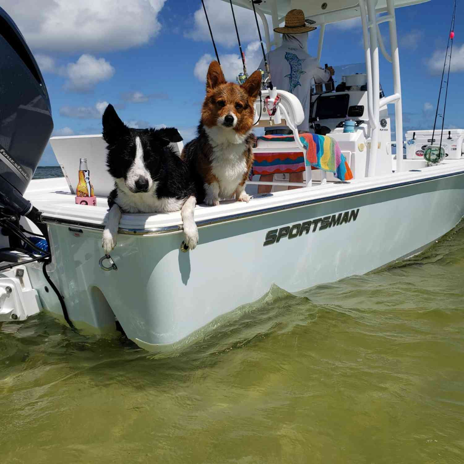 Title: We love our boat! - On board their Sportsman Masters 247 Bay Boat - Location: Key Largo FL. Participating in the Photo Contest #SportsmanMay2020