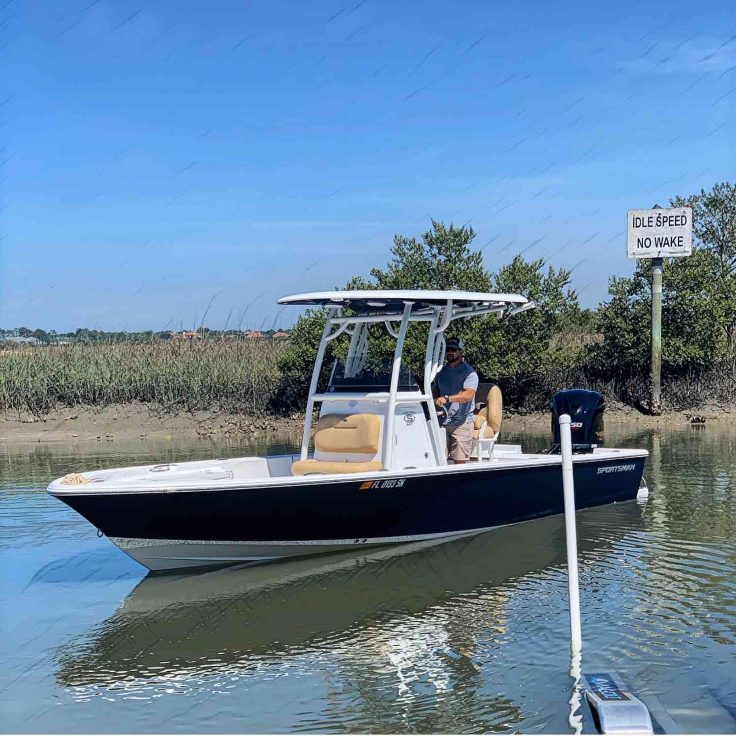 Title: No speed limit posted - On board their Sportsman Masters 247 Bay Boat - Location: St Augustine, Florida. Participating in the Photo Contest #SportsmanMay2020