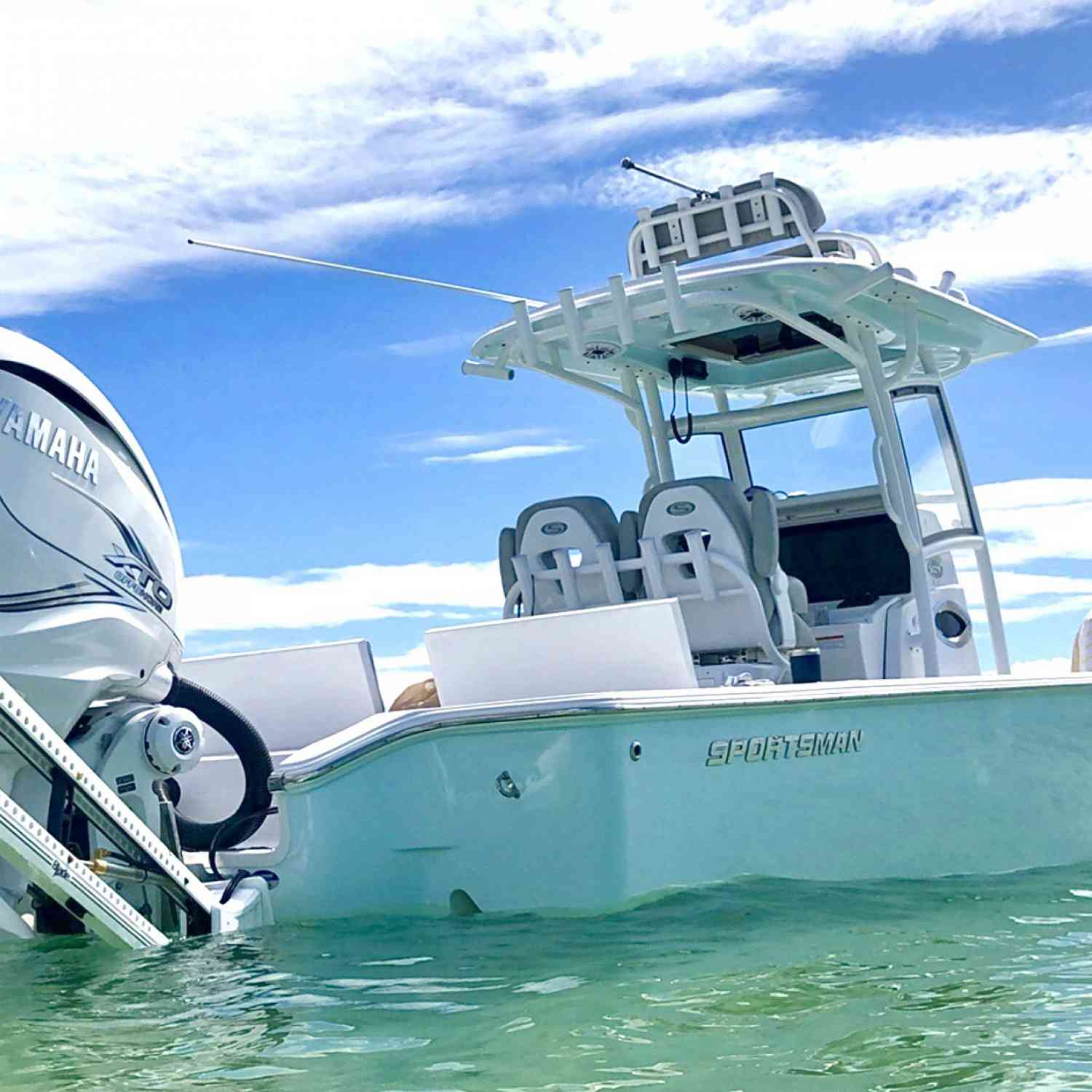 Title: Sandbar season - On board their Sportsman Masters 267 Bay Boat - Location: Sarasota, Fl. Participating in the Photo Contest #SportsmanMay2020