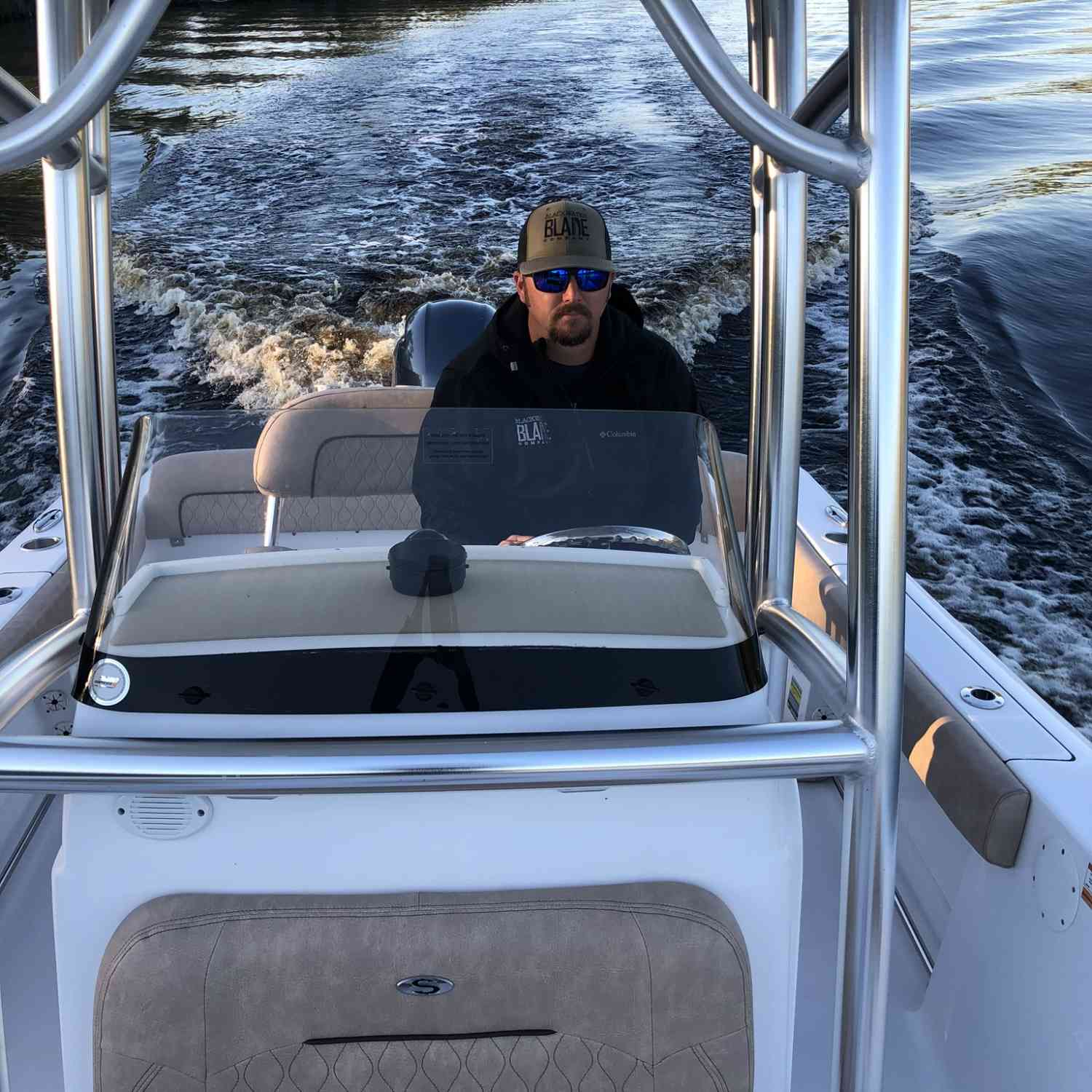 Title: River cruising - On board their Sportsman Heritage 211 Center Console - Location: Conway, South Carolina. Participating in the Photo Contest #SportsmanMay2020