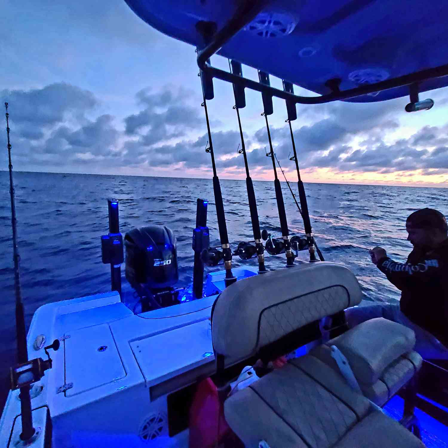 Title: 50 miles out on the deep blue - On board their Sportsman Masters 227 Bay Boat - Location: Atlantic ocean. Participating in the Photo Contest #SportsmanNovember2020