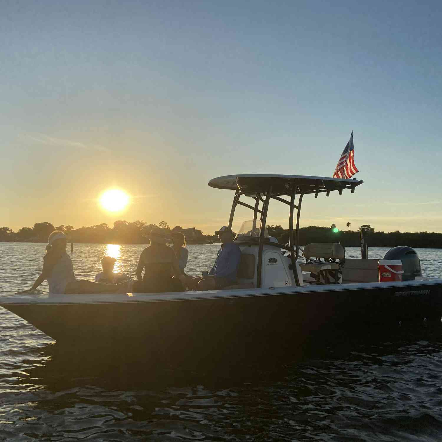 Title: St.Pete sunset with friends.  Life is good! - On board their Sportsman Masters 227 Bay Boat - Location: Weedon Island, St.Petersburg, FL. Participating in the Photo Contest #SportsmanOctober2020