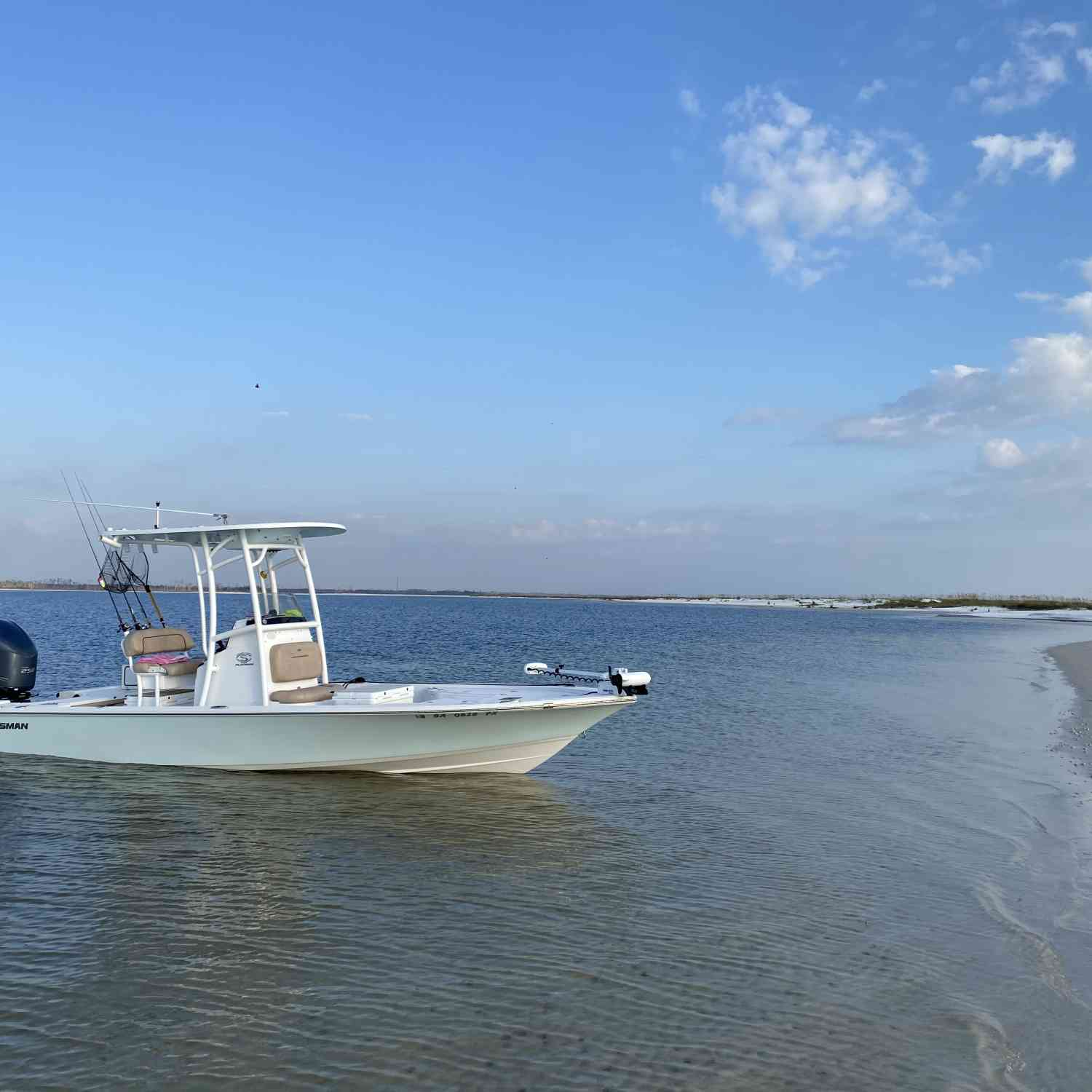 Title: Favorite Places - On board their Sportsman Tournament 234 Bay Boat - Location: Crooked Island, Panama City Fl.. Participating in the Photo Contest #SportsmanOctober2020