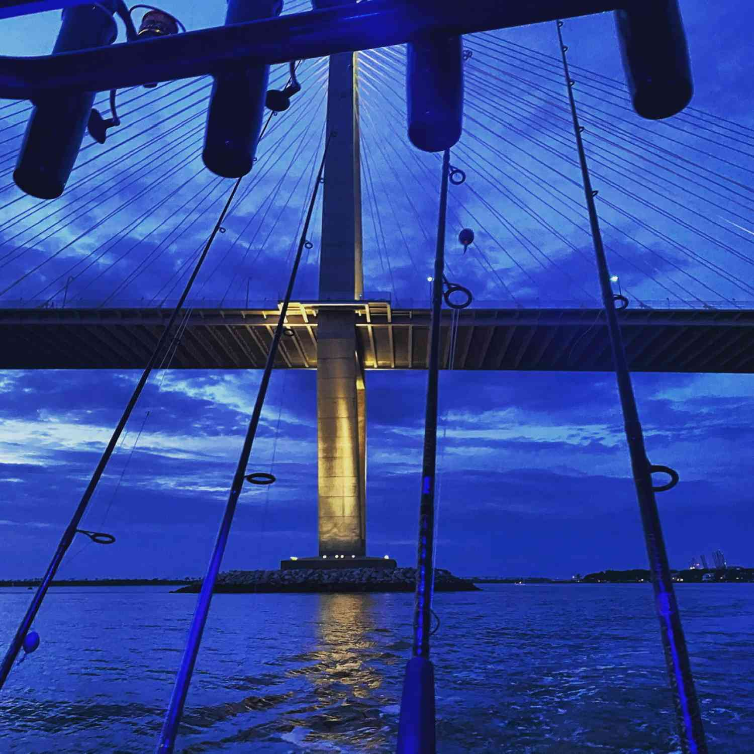 Title: Night fishing at the Ravenel - On board their Sportsman Heritage 231 Center Console - Location: Charleston harbor. Participating in the Photo Contest #SportsmanOctober2020
