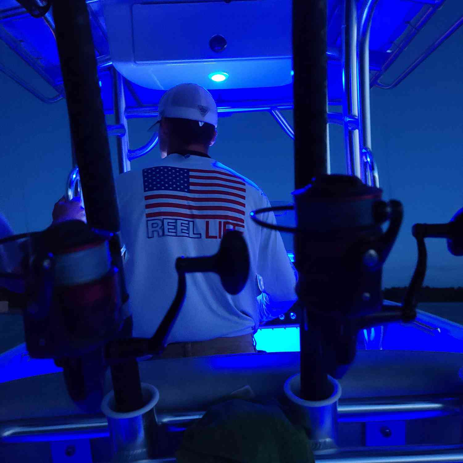 Title: Night fishing - On board their Sportsman Open 242 Center Console - Location: Tangier Sound. Participating in the Photo Contest #SportsmanOctober2020
