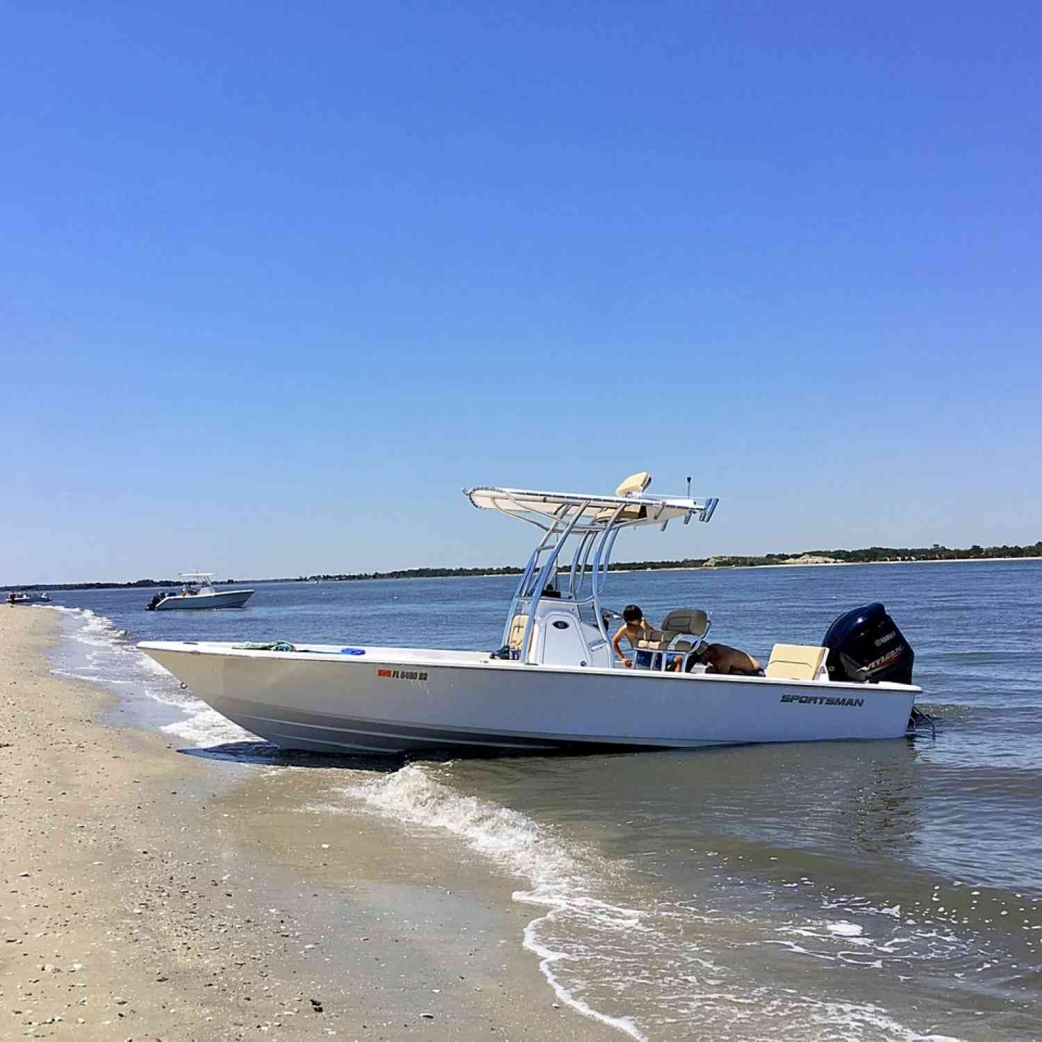 Title: Beached - On board their Sportsman Masters 247 Bay Boat - Location: Jax FL. Participating in the Photo Contest #SportsmanOctober2020