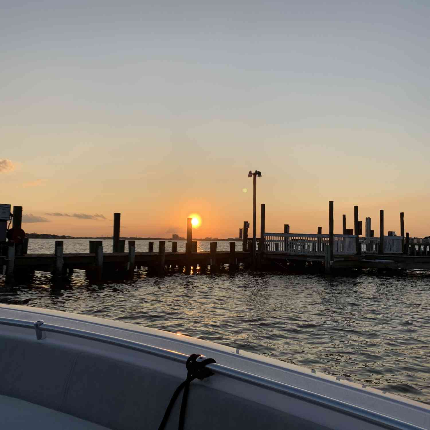 Title: Sunset on clear lake - On board their Sportsman Open 282TE Center Console - Location: Seabrook, TX. Participating in the Photo Contest #SportsmanOctober2020