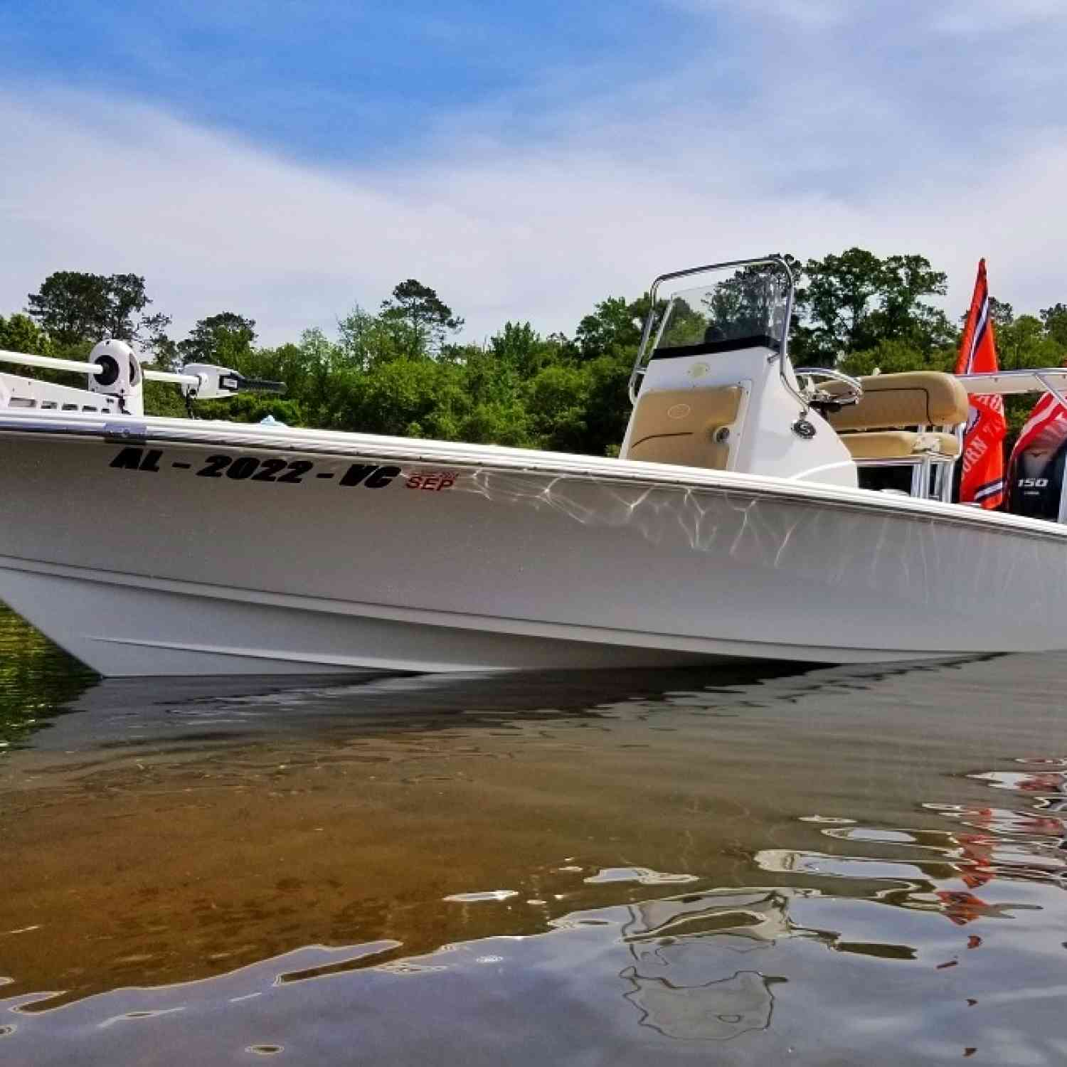 Title: Sandbar Saturday - On board their Sportsman Tournament 214 Bay Boat - Location: Lake Harding, Valley, AL. Participating in the Photo Contest #SportsmanSeptember2020