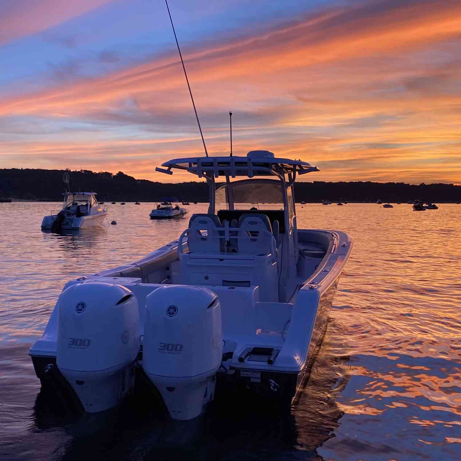 Title: Best sunset of the summer 2020 - On board their Sportsman Open 312 Center Console - Location: Cooper's bluff Oyster Bay NY. Participating in the Photo Contest #SportsmanSeptember2020