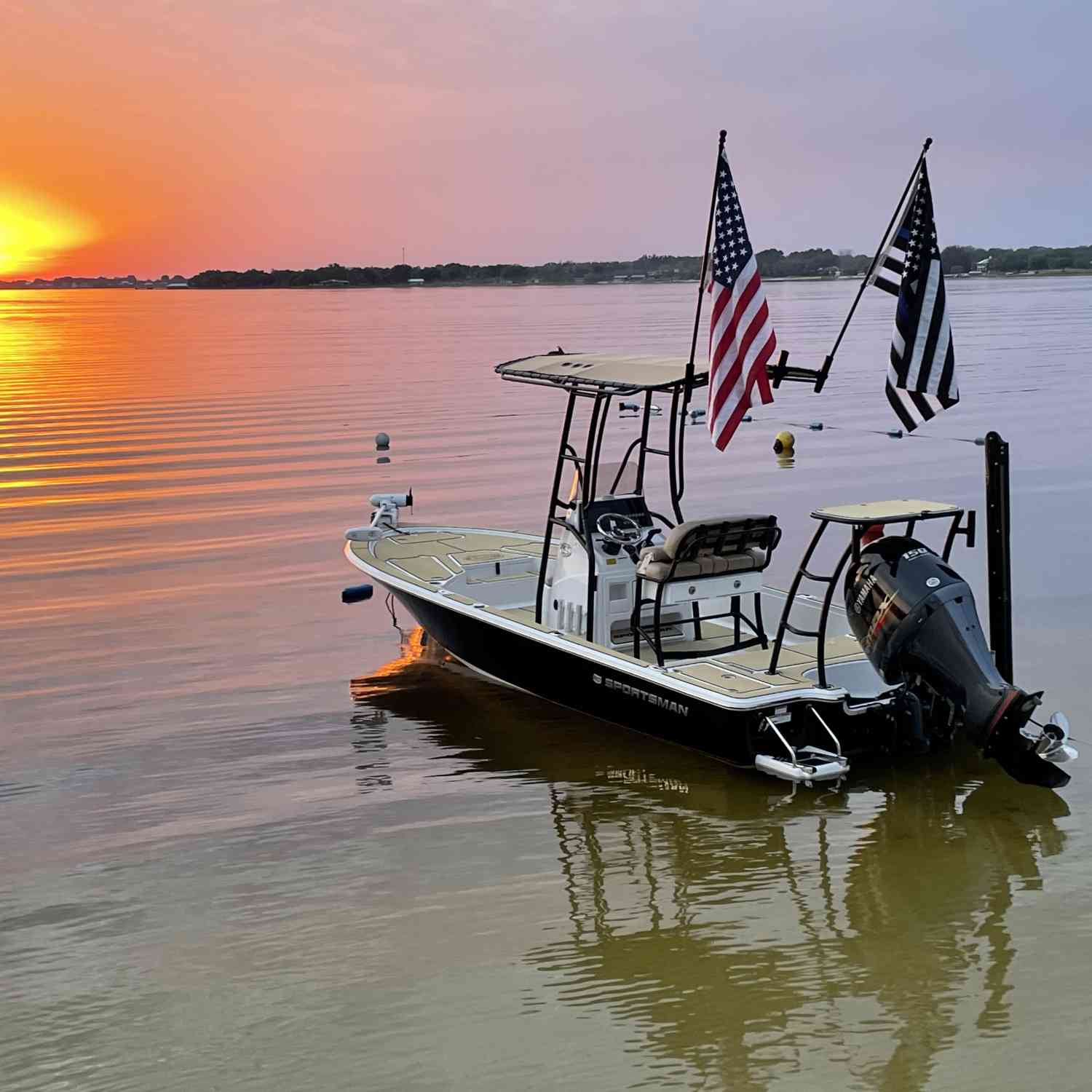 Not sure which is more beautiful, the boat or the sunset.