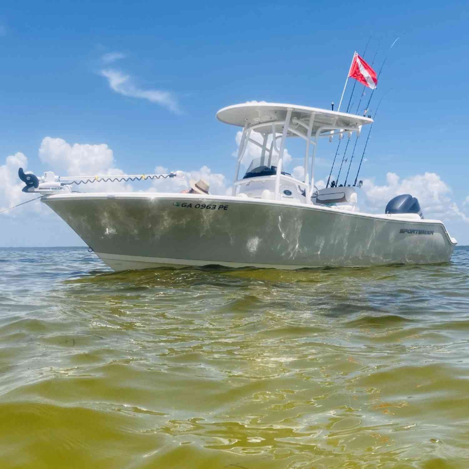 Fished all day and stopped for all aboard to cool off on a off shore sandbar.