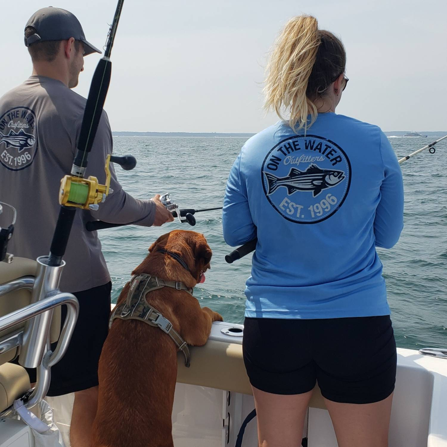 A day of fishing with the family, Brody our Lab loves the boat too!