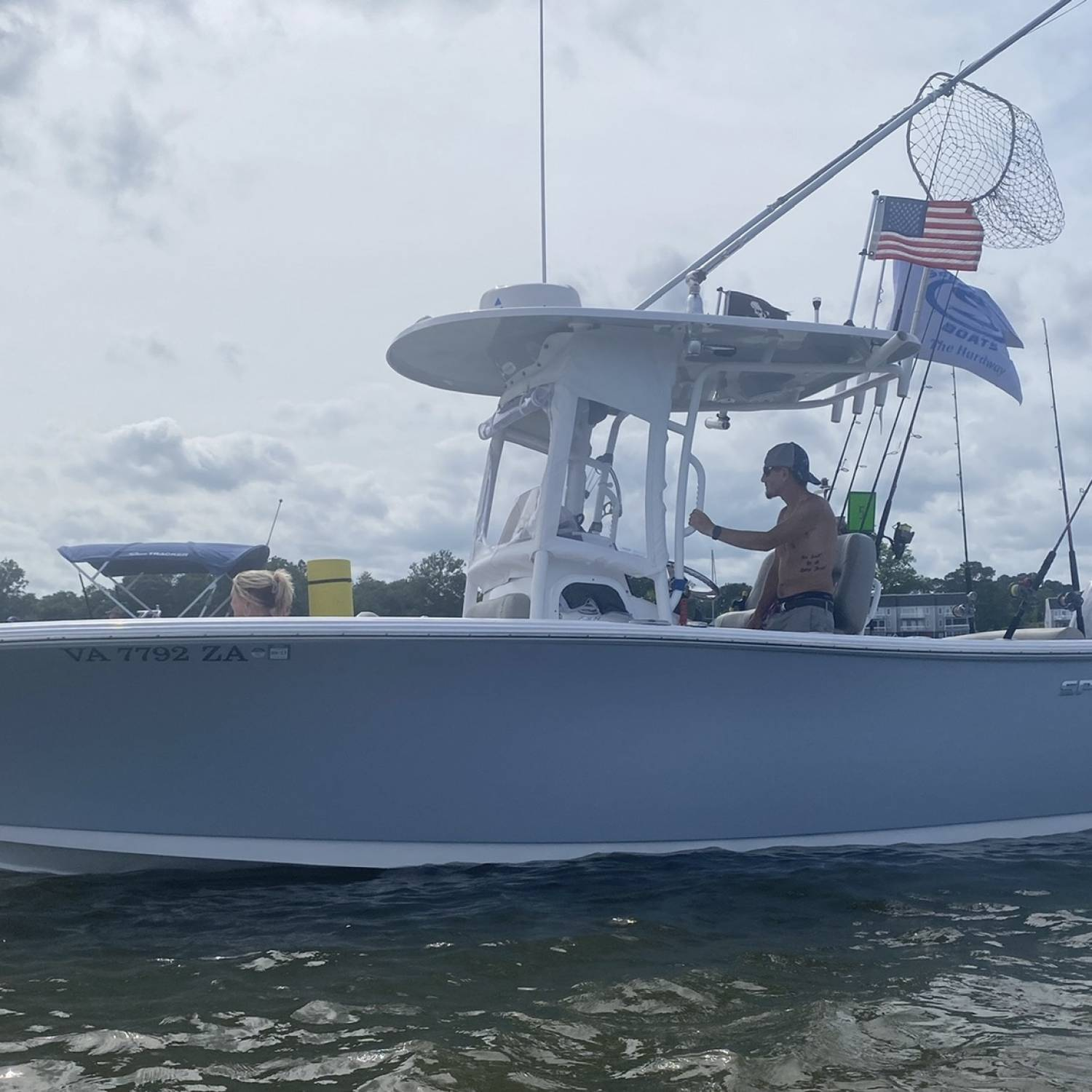Title: 4th of July - On board their Sportsman Open 232 Center Console - Location: Urbanna VA. Participating in the Photo Contest #SportsmanAugust2021