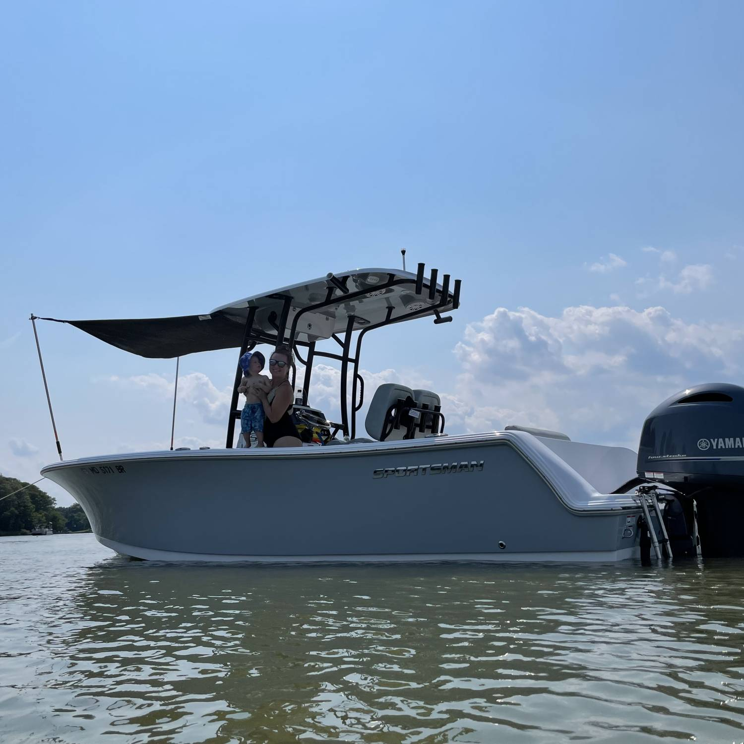 Title: Shady - On board their Sportsman Open 232 Center Console - Location: Sue Creek MD. Participating in the Photo Contest #SportsmanAugust2021
