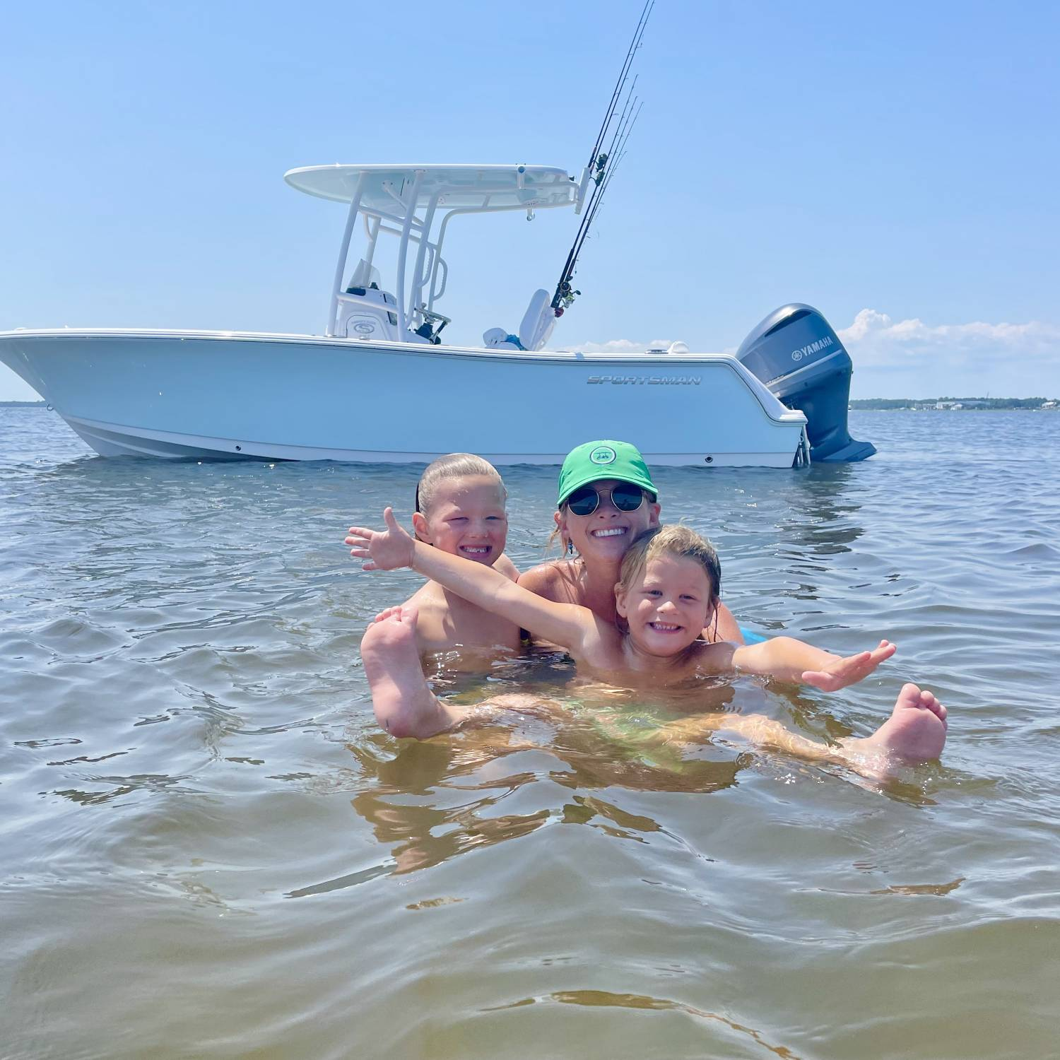 Title: Sportsman with family - On board their Sportsman Heritage 231 Center Console - Location: Bald head island, NC. Participating in the Photo Contest #SportsmanAugust2021