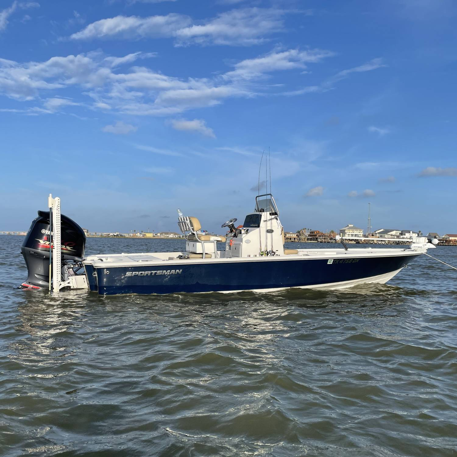 Title: 234 Tournament - On board their Sportsman Tournament 234 Bay Boat - Location: West Galveston Bay. Participating in the Photo Contest #SportsmanAugust2021