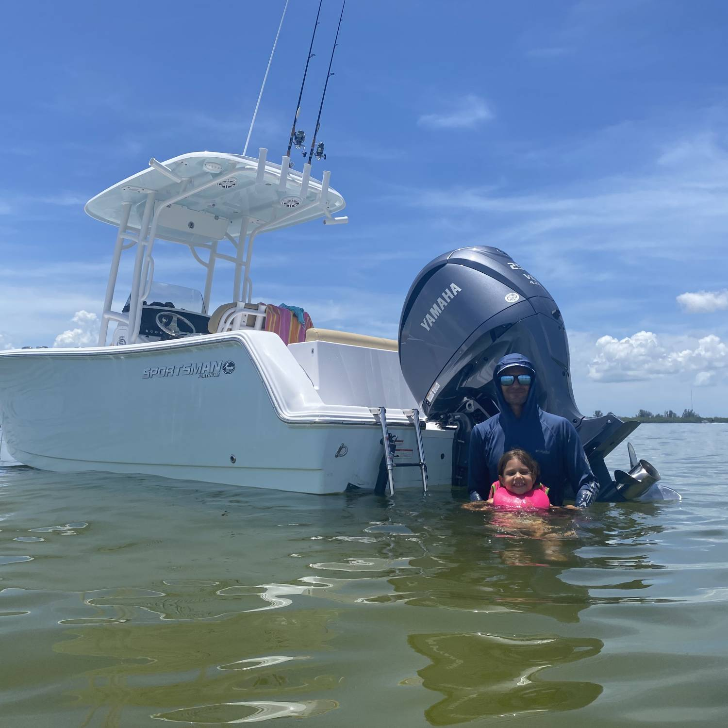 Fun day at the sandbar with our new 232 Open
