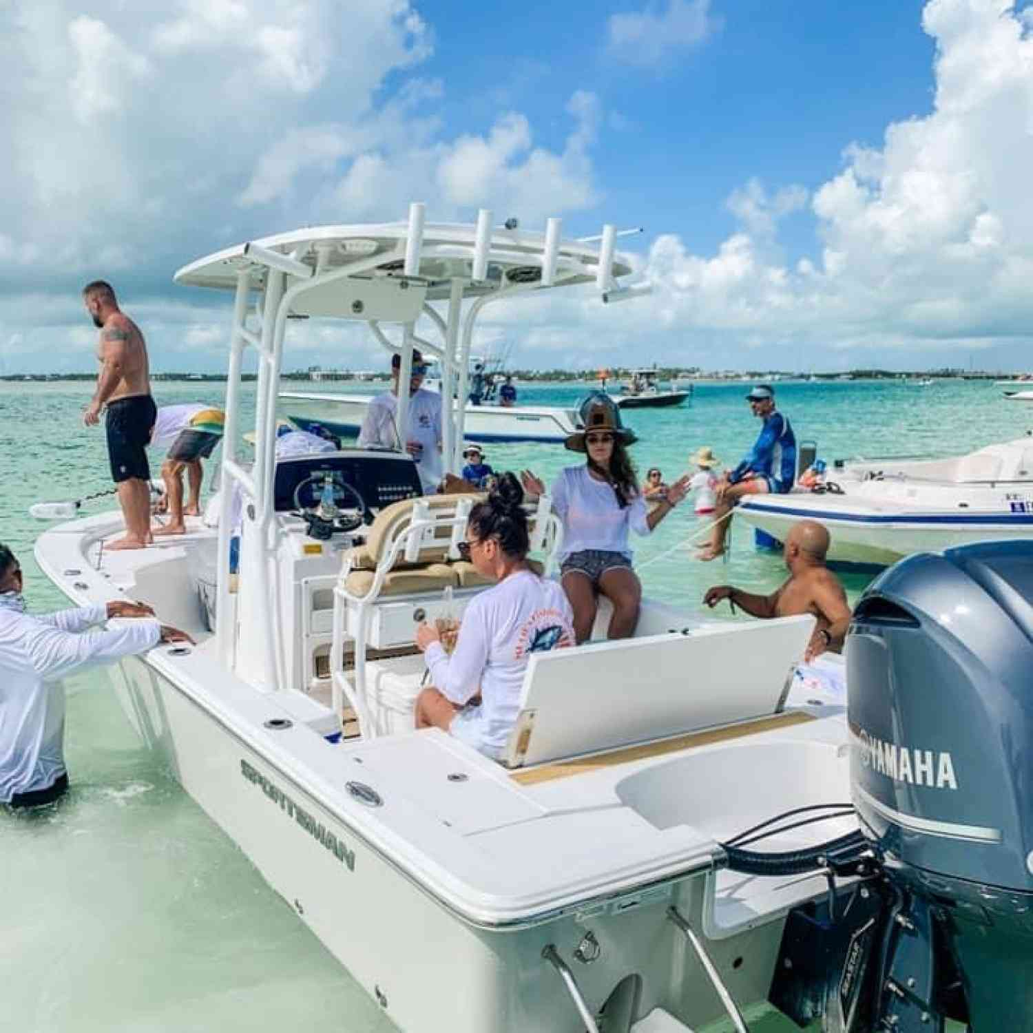 Title: 40th Birthday - On board their Sportsman Masters 247 Bay Boat - Location: Islamorada. Participating in the Photo Contest #SportsmanFebruary2021