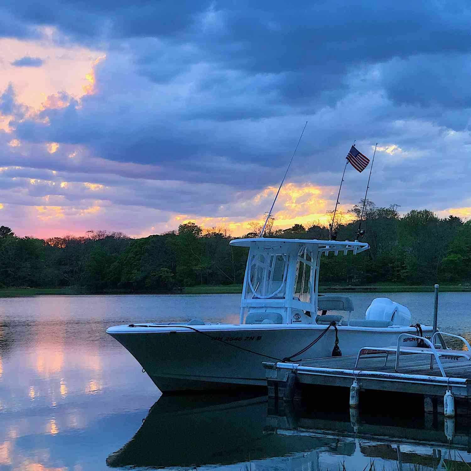 Title: Sportsman Sunset - On board their Sportsman Open 232 Center Console - Location: Gloucester, Massachusetts. Participating in the Photo Contest #SportsmanFebruary2021