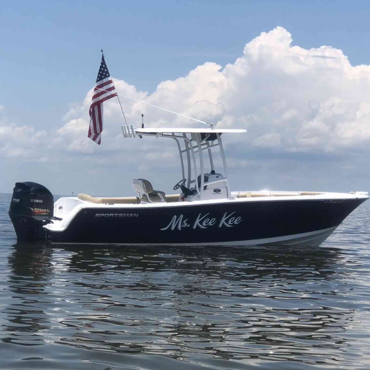 Title: Our Happy Place - On board their Sportsman Heritage 231 Center Console - Location: Ship Island. Participating in the Photo Contest #SportsmanFebruary2021
