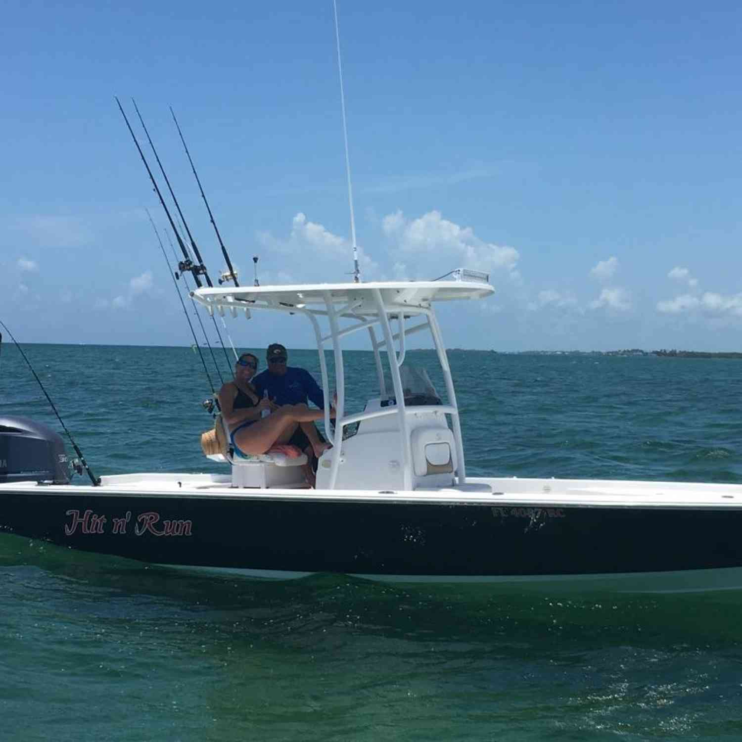 Title: Hit and Run - On board their Sportsman Masters 247 Bay Boat - Location: Keys. Participating in the Photo Contest #SportsmanFebruary2021