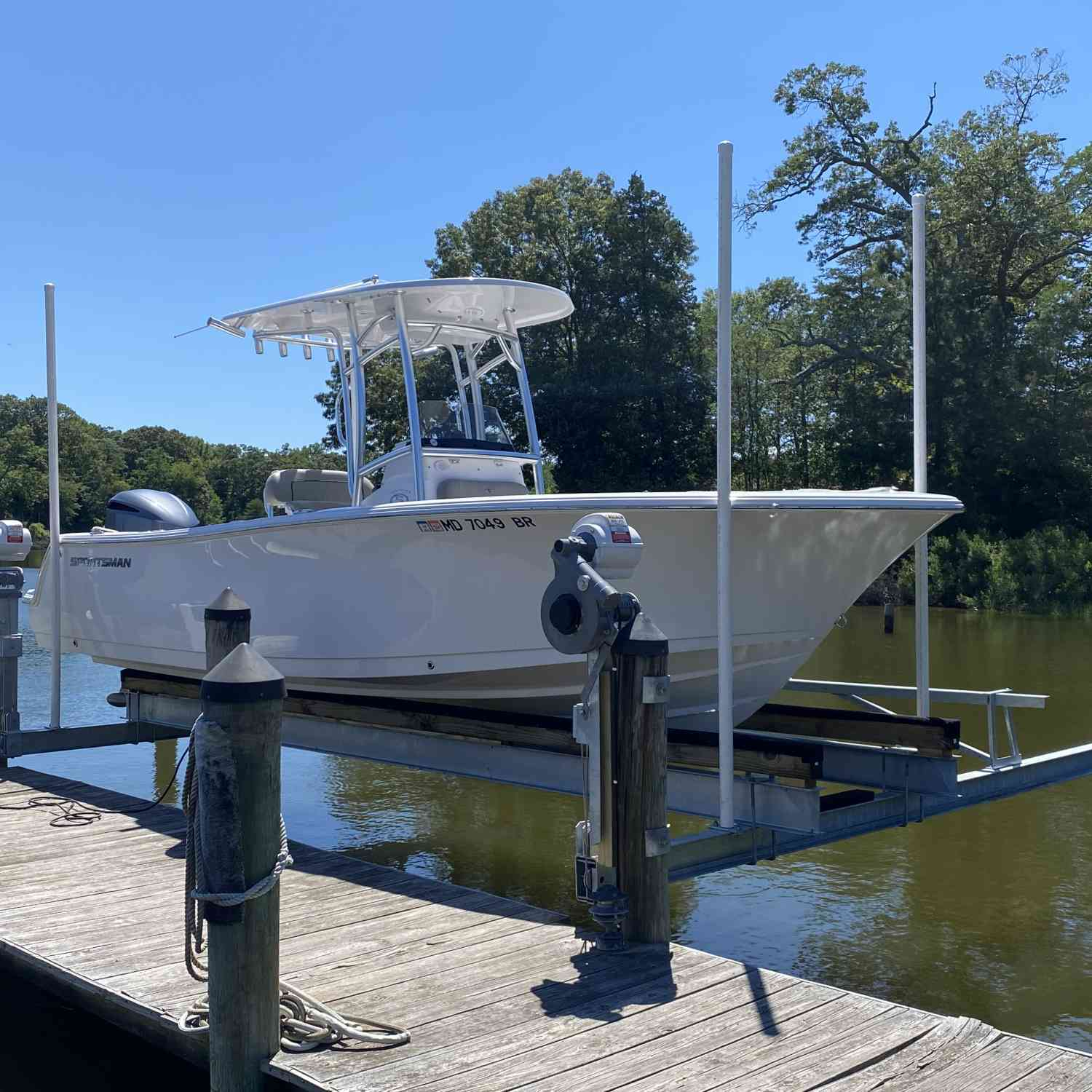 Title: Lyft  Away - On board their Sportsman Heritage 231 Center Console - Location: Solomon Island Md. Participating in the Photo Contest #SportsmanJuly2021
