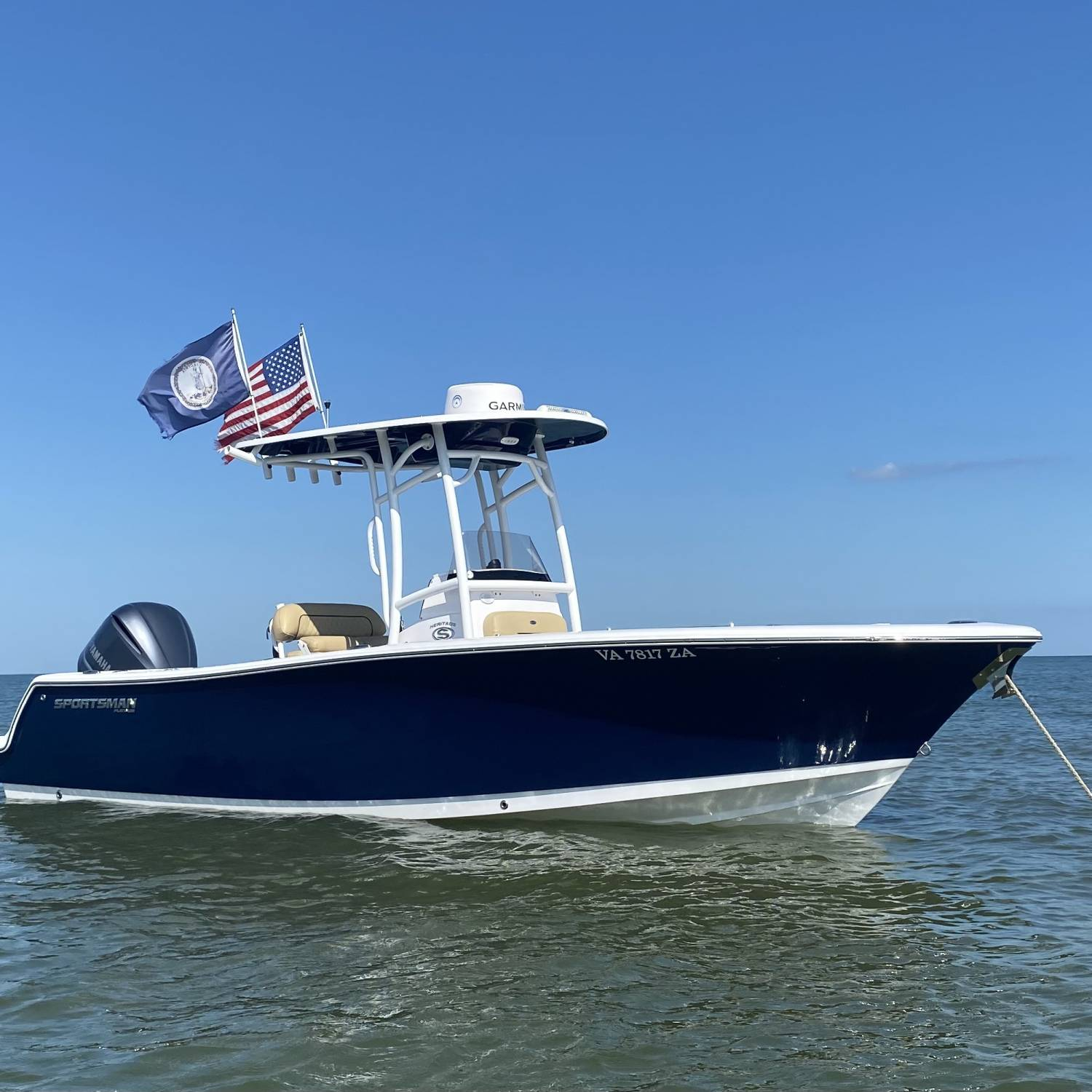 Title: True Companion - On board their Sportsman Heritage 231 Center Console - Location: New Point Comfort, Chesapeake Bay, VA. Participating in the Photo Contest #SportsmanJuly2021