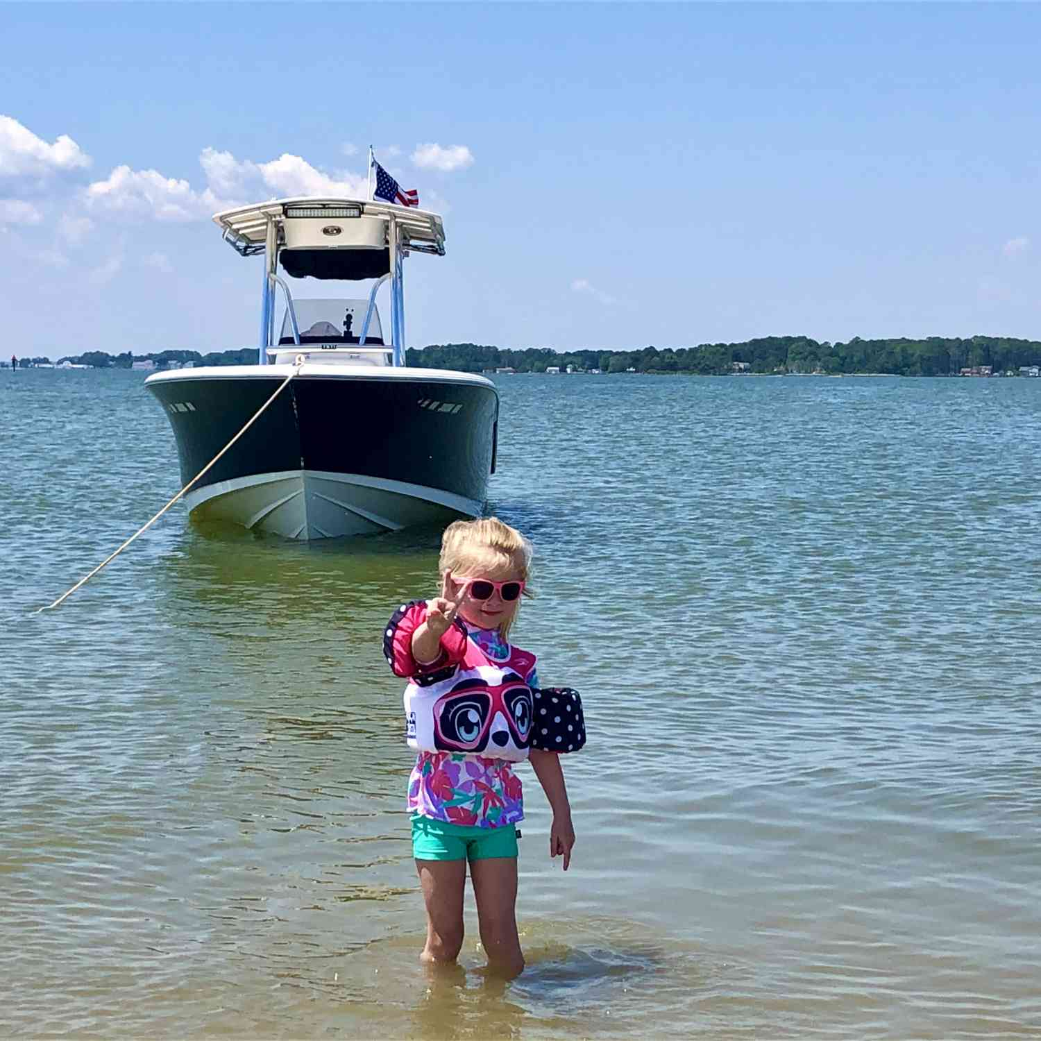 Title: Deuces - On board their Sportsman Heritage 231 Center Console - Location: Gwynns Island VA. Participating in the Photo Contest #SportsmanJune2021
