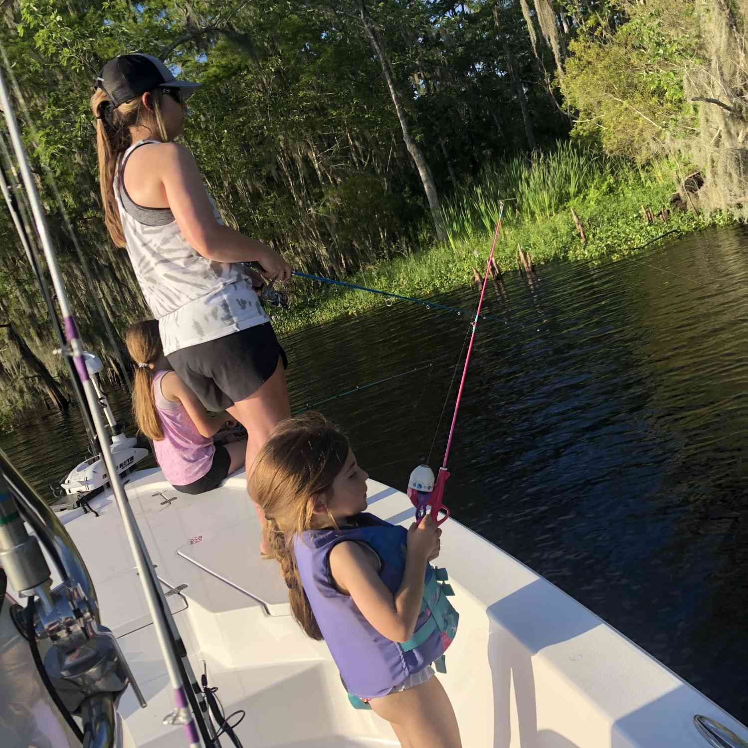 Title: Family Fun - On board their Sportsman Tournament 234 Bay Boat - Location: Louisiana. Participating in the Photo Contest #SportsmanJune2021