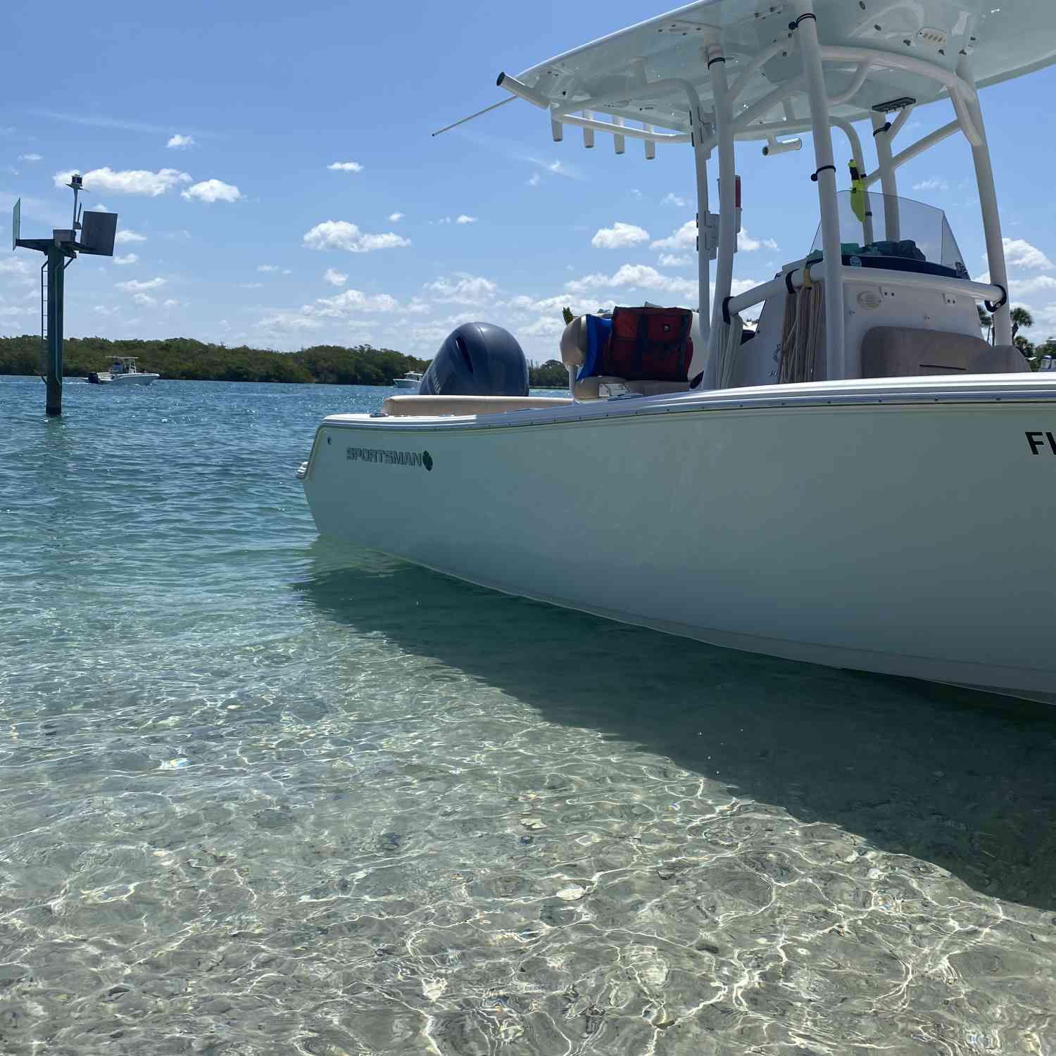 Love taking the boat to the sand bars to hang out! Water at the Venice/Nokomis is so beautiful!
