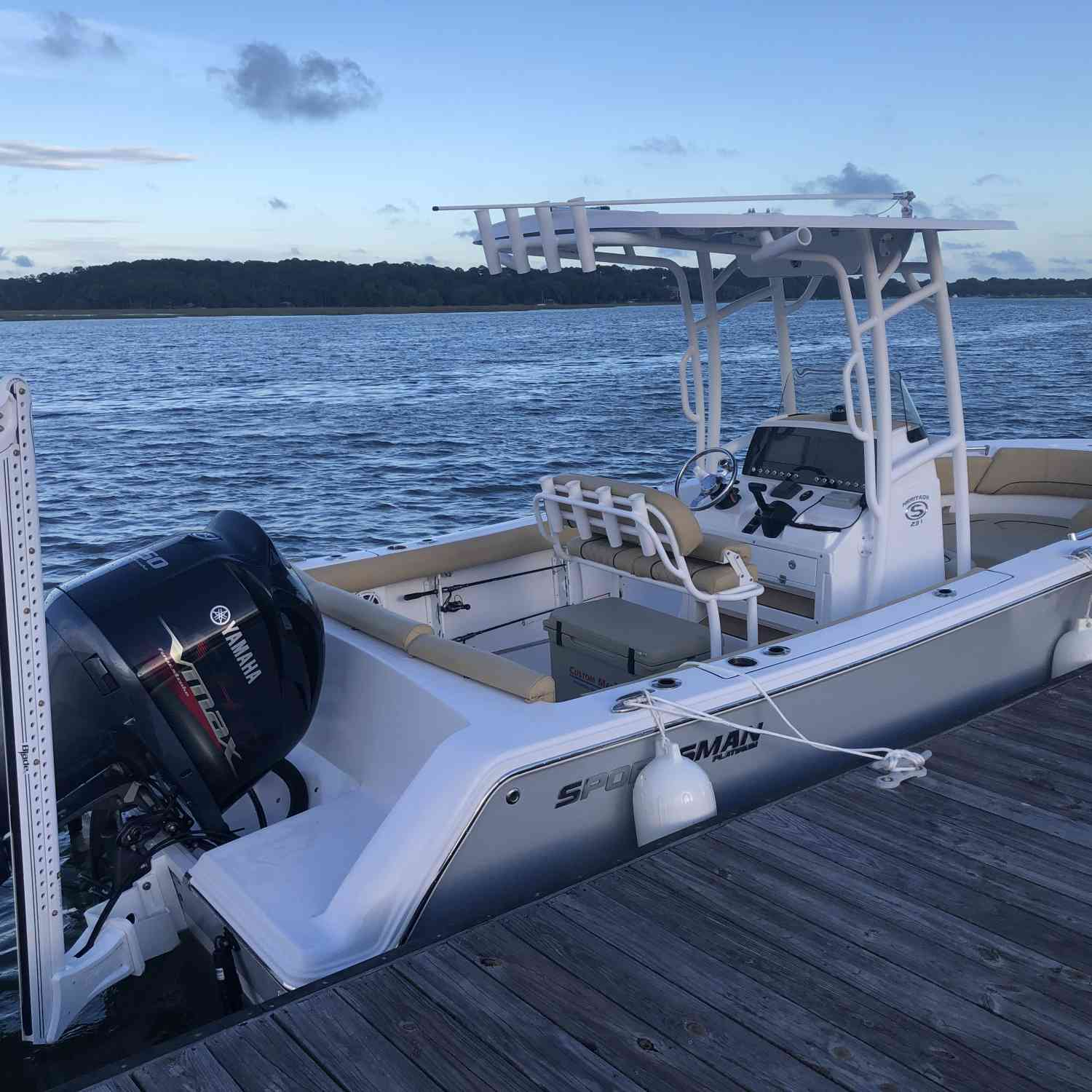 Title: ~Welcome Home~ - On board their Sportsman Heritage 231 Center Console - Location: Beaufort, SC. Participating in the Photo Contest #SportsmanJune2021