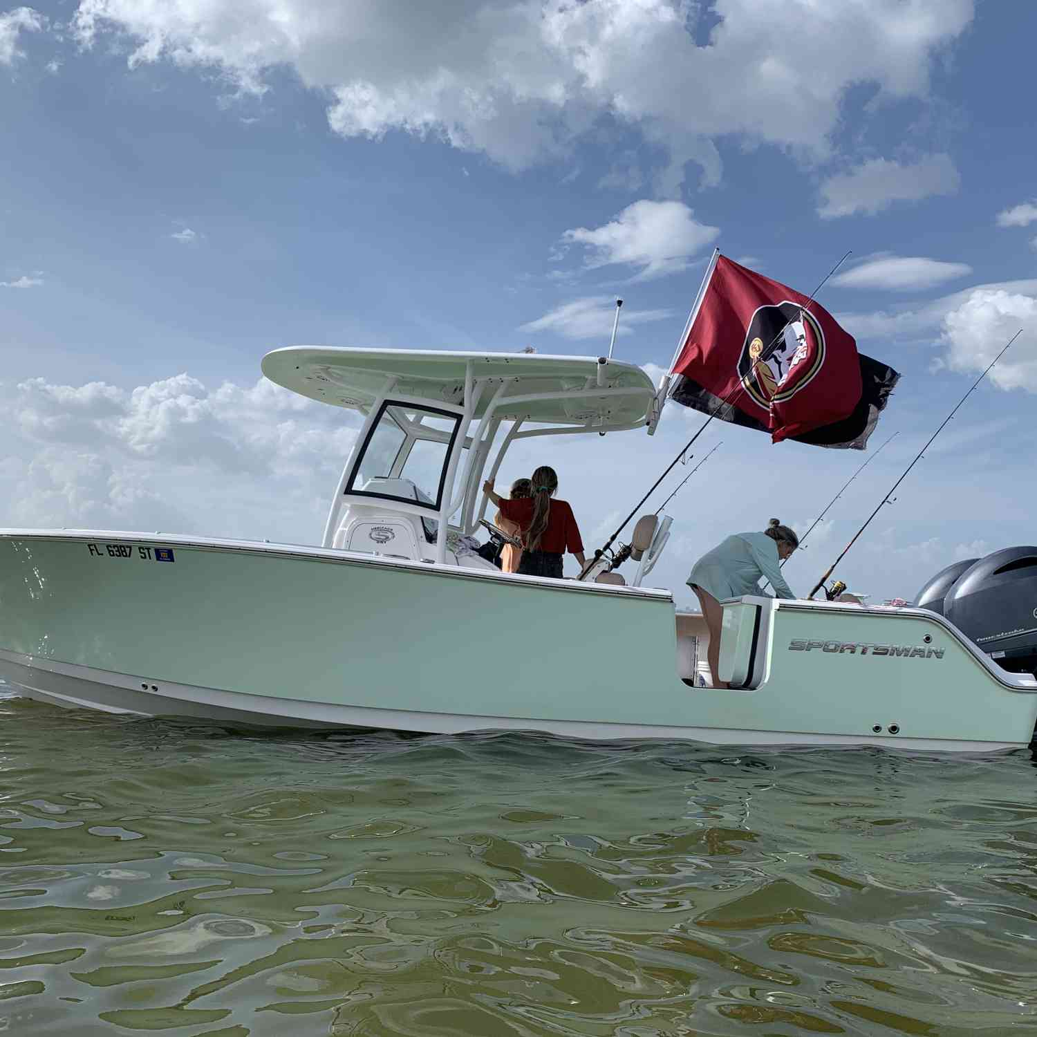 Title: The Kavanaugh's Sportsman - On board their Sportsman Open 252 Center Console - Location: Tampa, Florida. Participating in the Photo Contest #SportsmanMarch2021