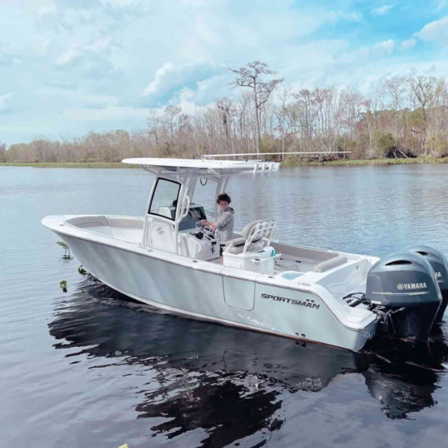 Title: First day out - On board their Sportsman Open 252 Center Console - Location: St Johns river Jacksonville florida. Participating in the Photo Contest #SportsmanMarch2021