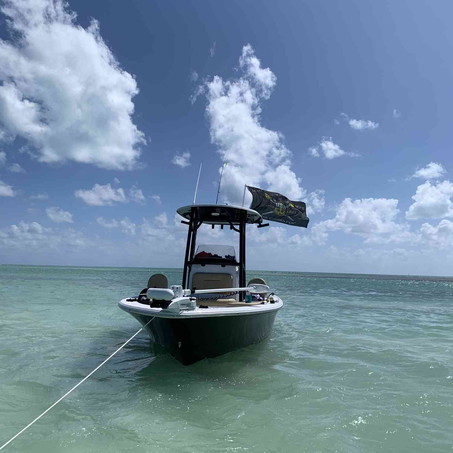 When it's small craft advisory in the Florida Keys you hit the sand bar in Islamorada.