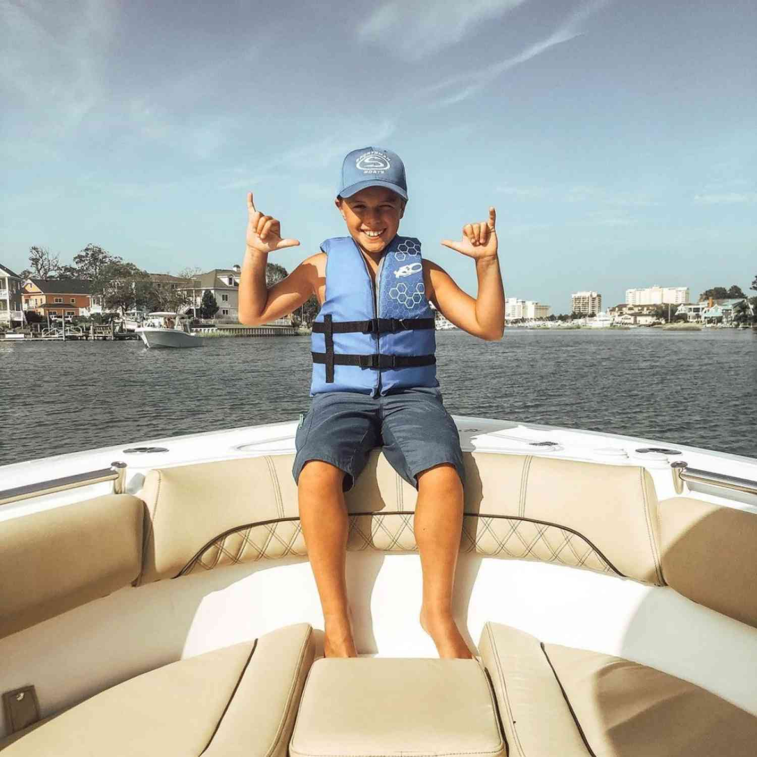 Title: Hanging loose in vb - On board their Sportsman Open 252 Center Console - Location: Rudee inlet. Participating in the Photo Contest #SportsmanMarch2021