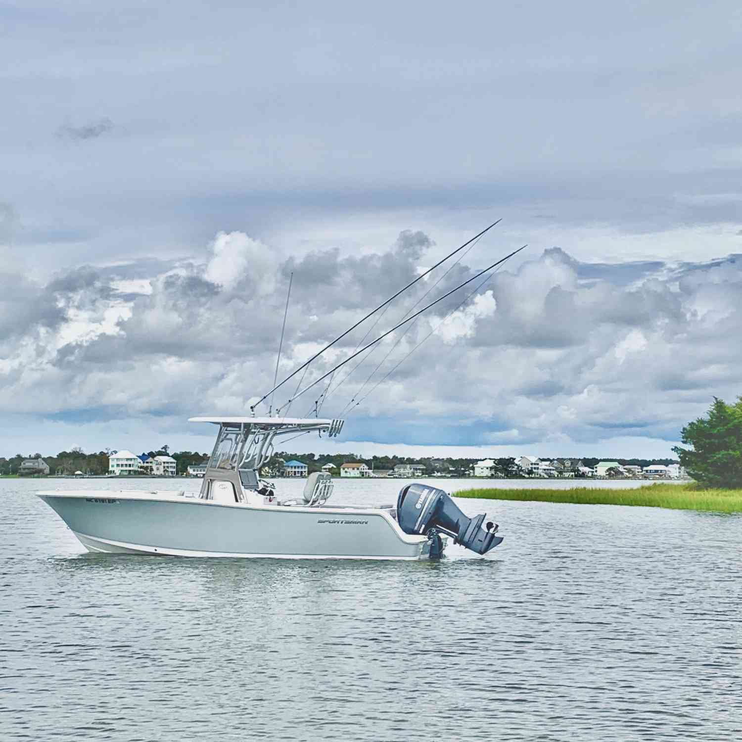 Title: Just Relaxing - On board their Sportsman Open 242 Center Console - Location: Emerald Isle NC. Participating in the Photo Contest #SportsmanMay2021