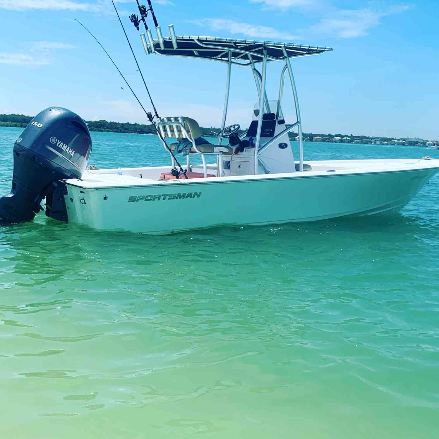 Title: Sportsman 207 - On board their Sportsman Masters 207 Bay Boat - Location: one tree island in Clearwater fl. Participating in the Photo Contest #SportsmanMay2021