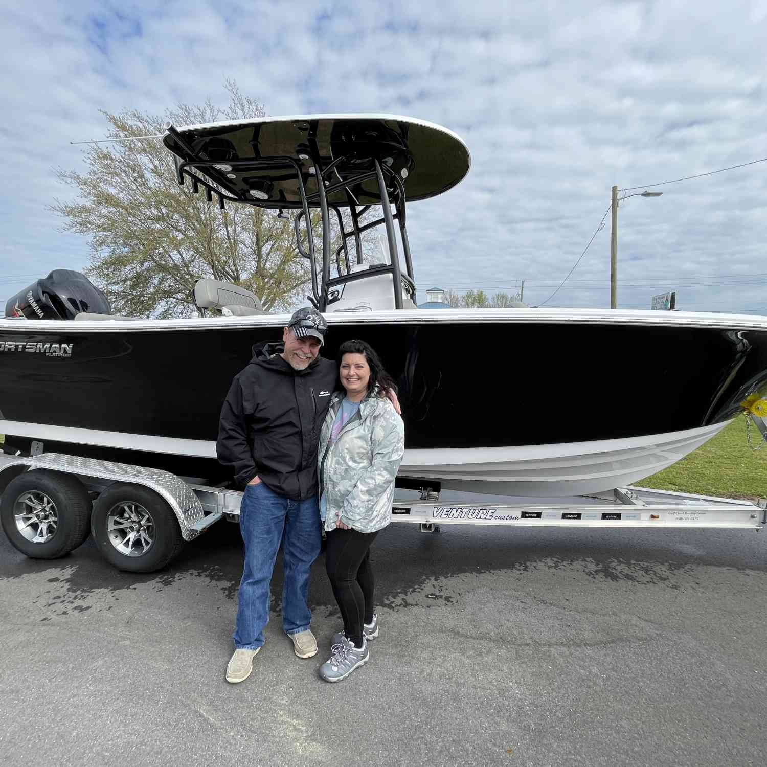 First pic with our new Sportsman boat!