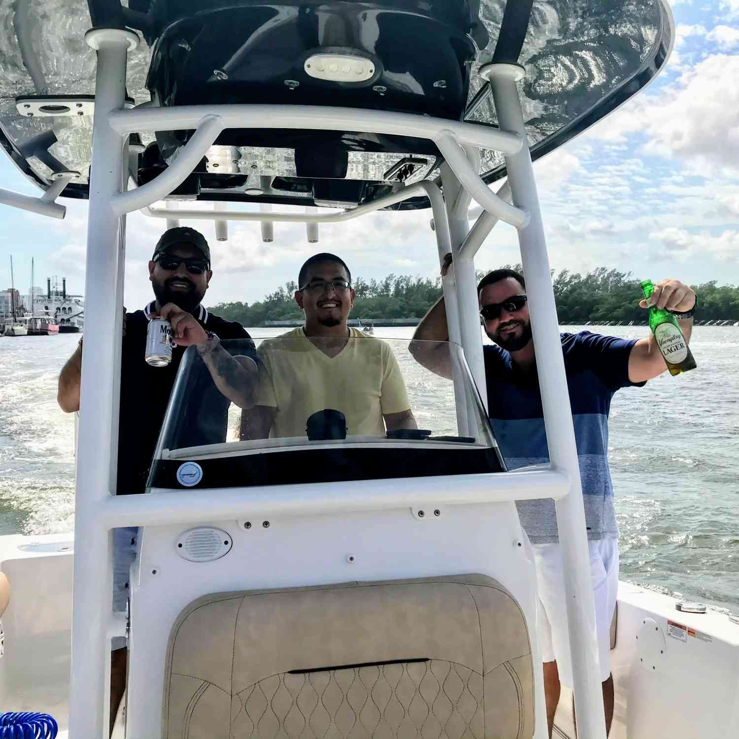 Title: Out in the water with the boys - On board their Sportsman Open 212 Center Console - Location: Fort Lauderdale. Participating in the Photo Contest #SportsmanMay2021