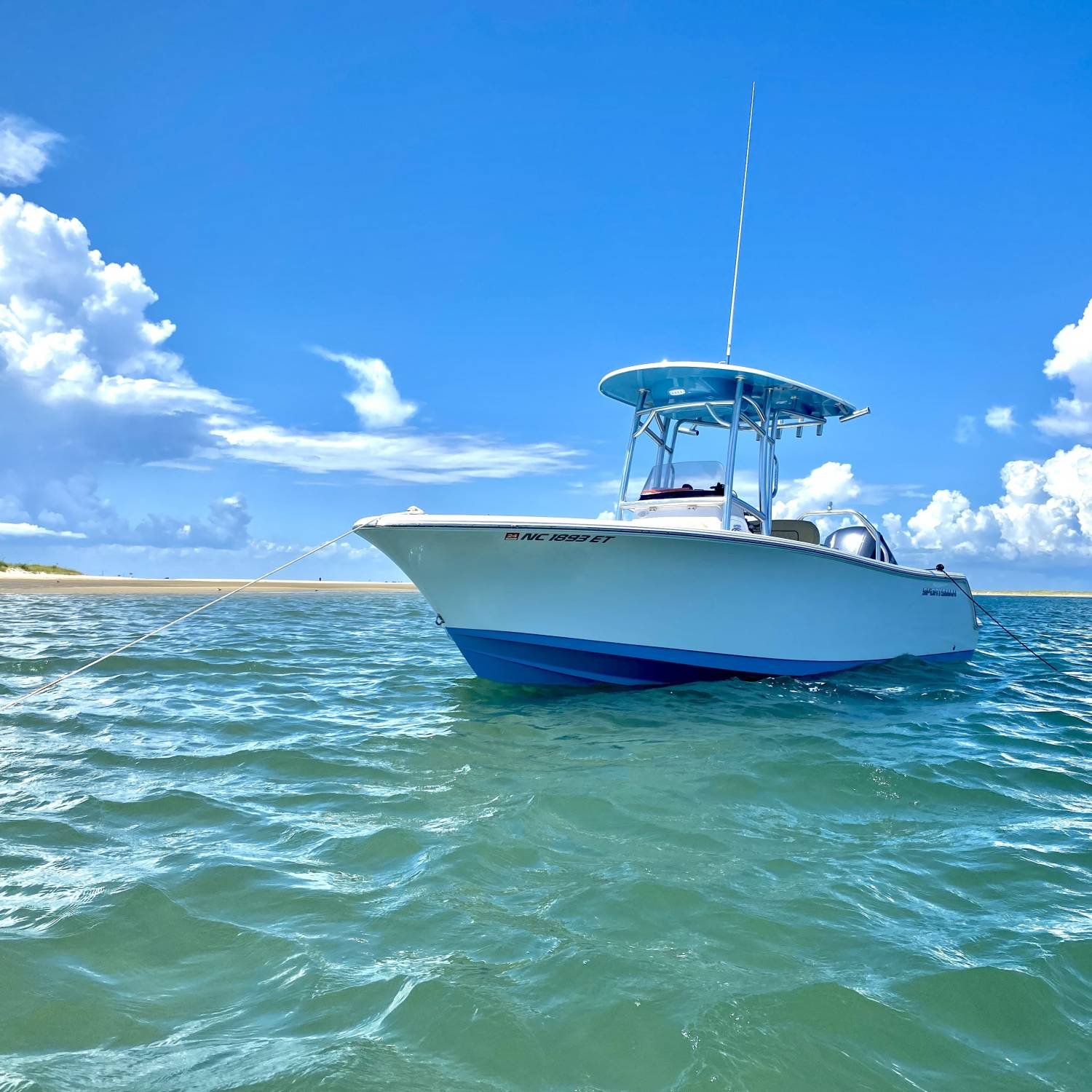 Perfect boat for the perfect summer day of fishing and floating.