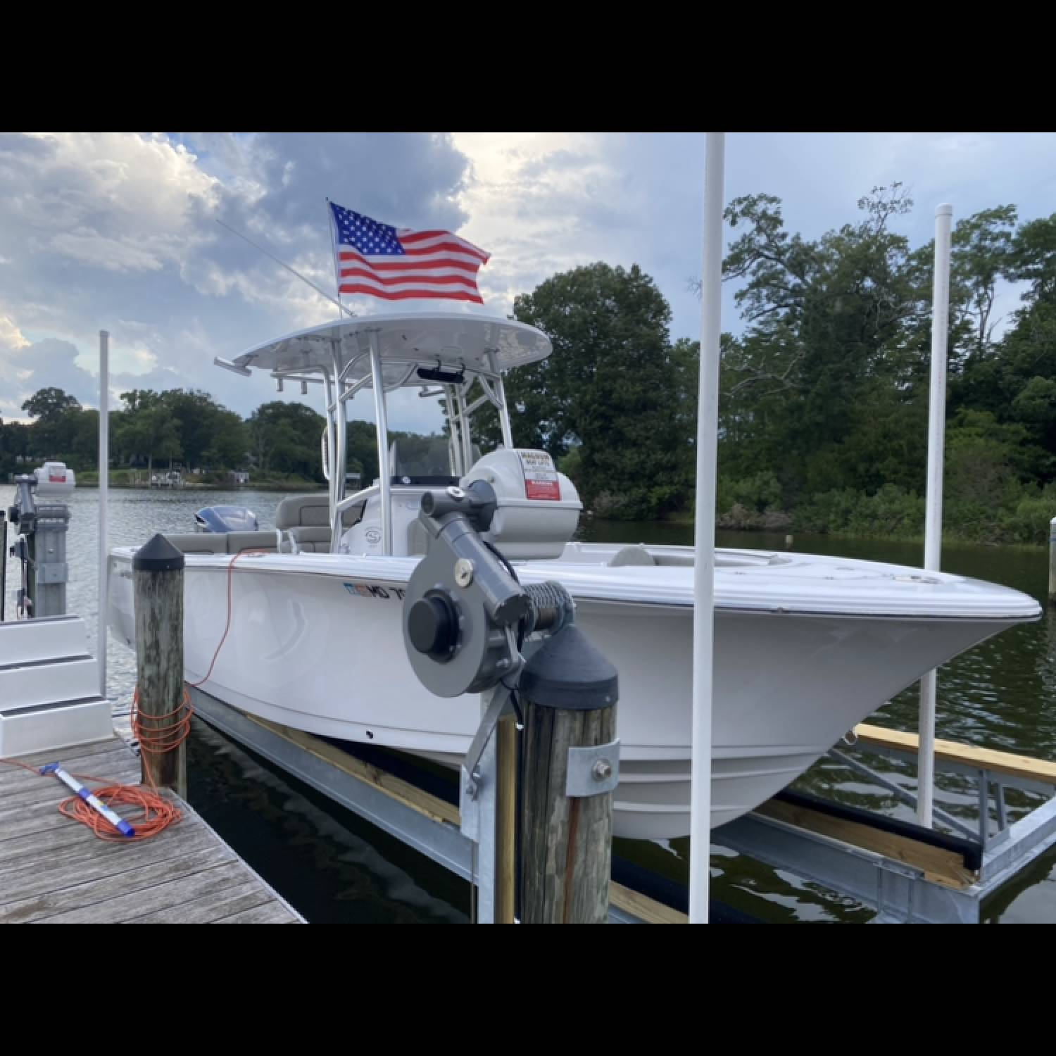 Title: New Sportsman on a New Lift. Ready to Go! - On board their Sportsman Heritage 231 Center Console - Location: Solomon Island. Participating in the Photo Contest #SportsmanSeptember2021