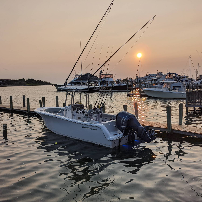 Dockside in Silver Lake, Ocracoke Island North Carolina OBX